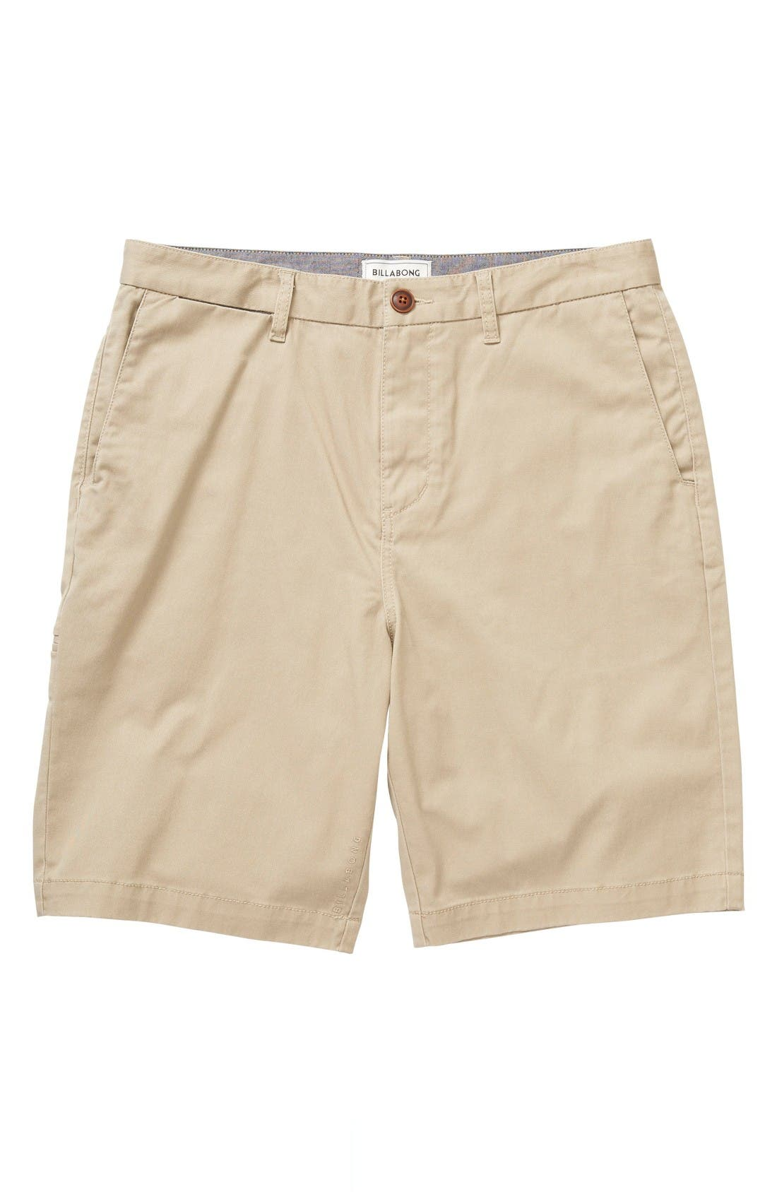 Billabong 'Carter' Cotton Twill Shorts (Toddler Boys & Little Boys)