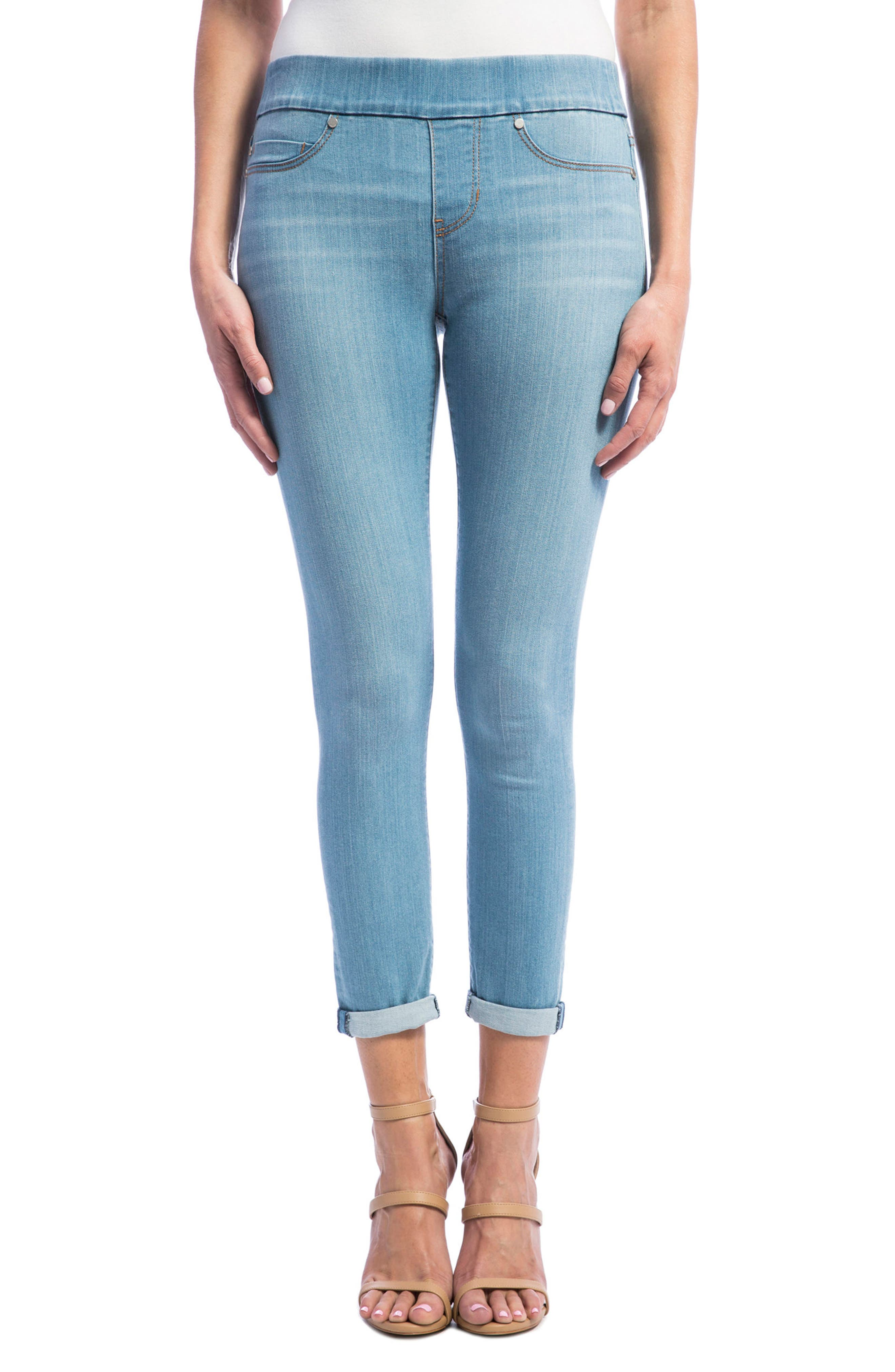 Liverpool Jeans Company Sienna Pull-On Stretch Capri Skinny Jeans (Normandie Light)