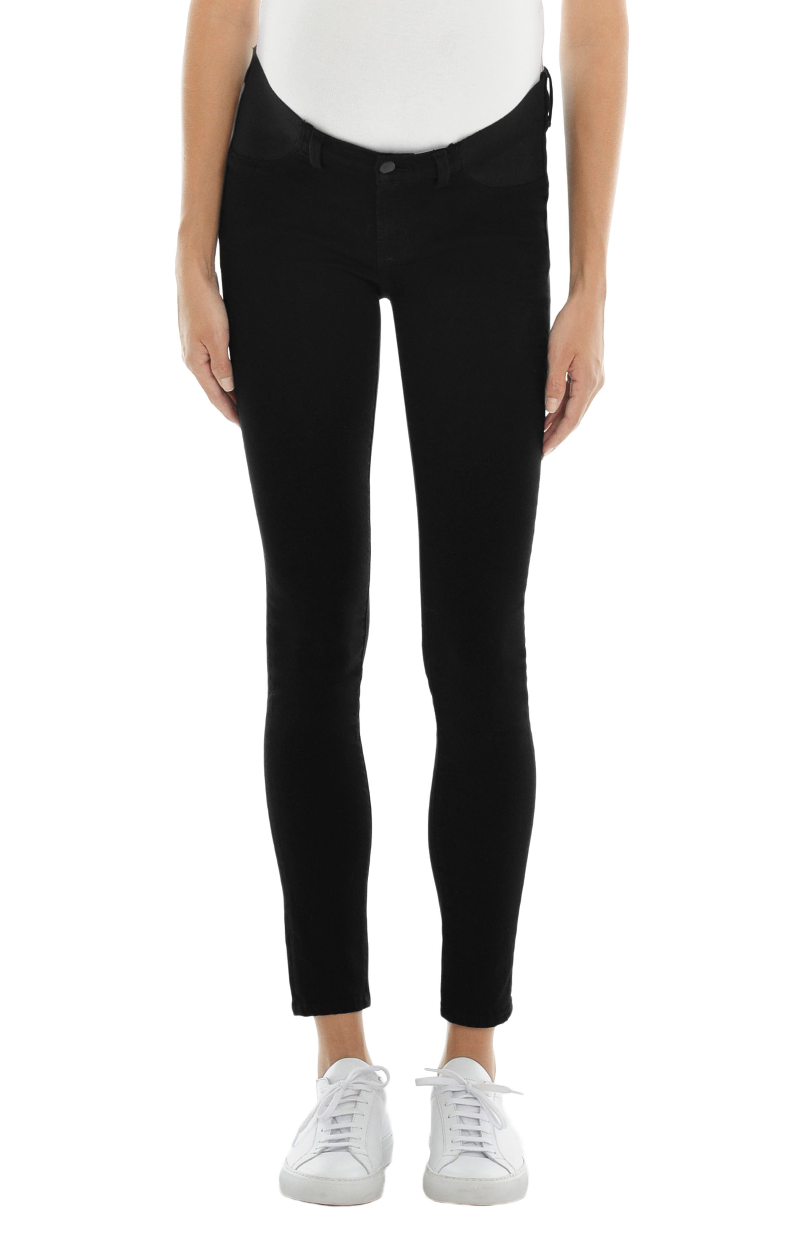 J Brand Mama J Super Skinny Maternity Jeans (Seriously Black)