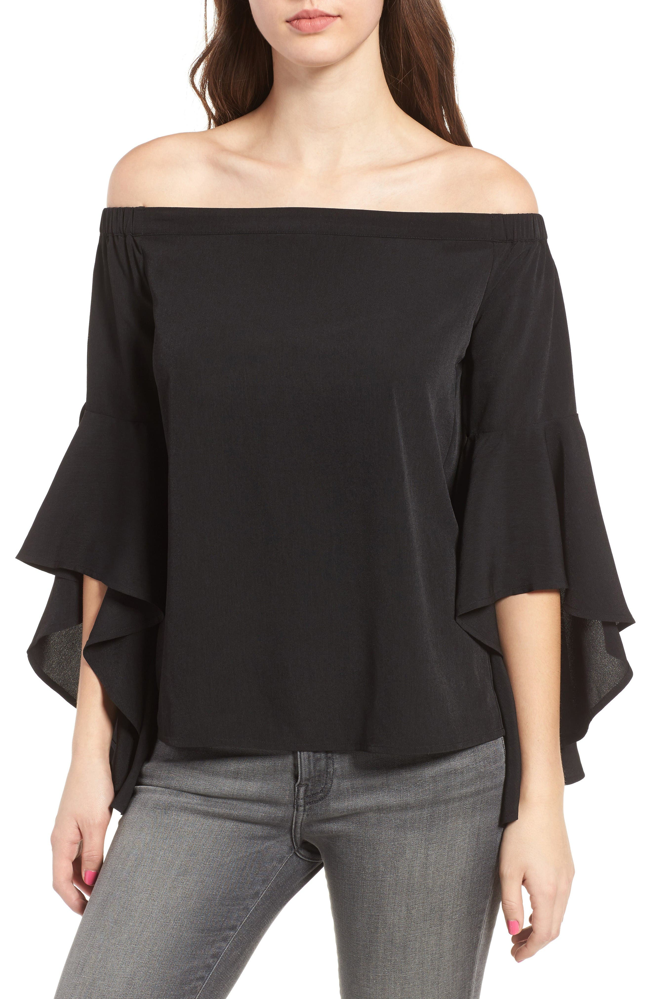 Chelsea28 Bell Sleeve Off the Shoulder Top