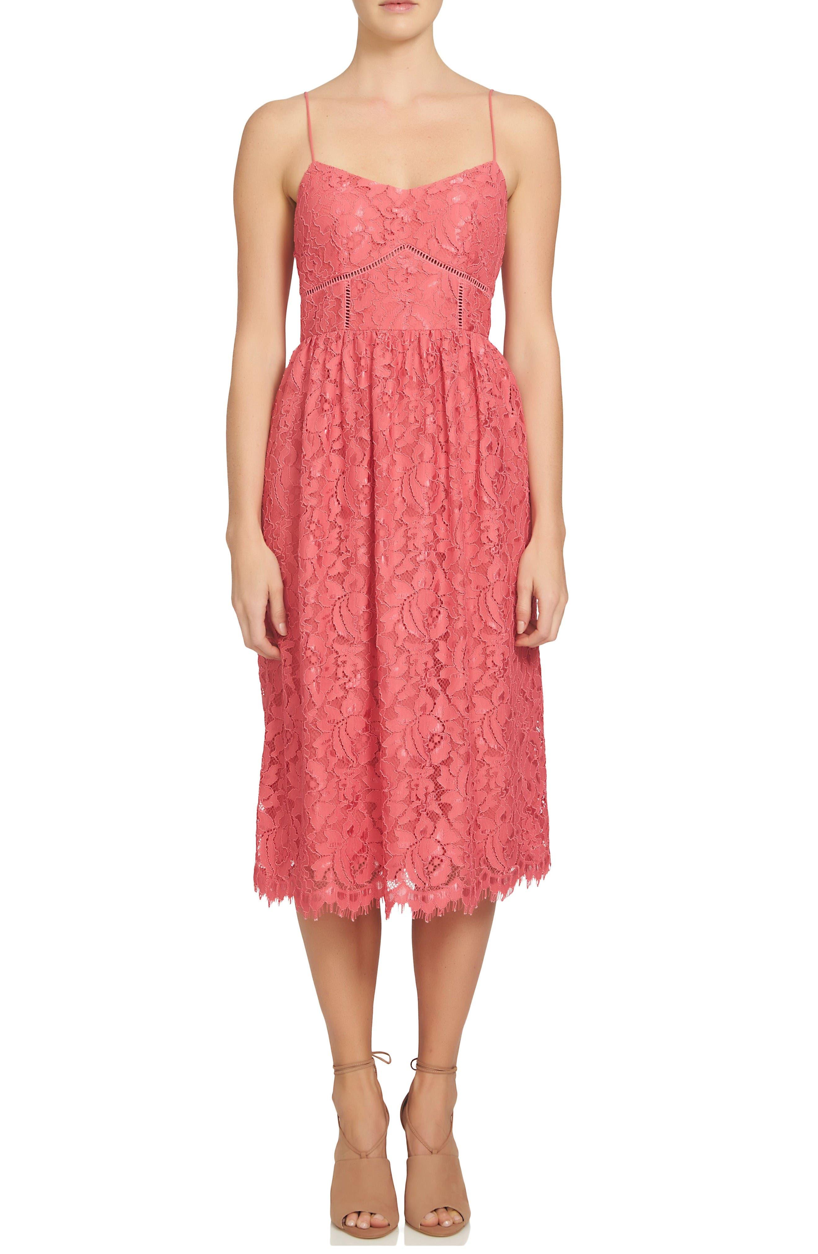 CeCe Aurora Lace Midi Dress