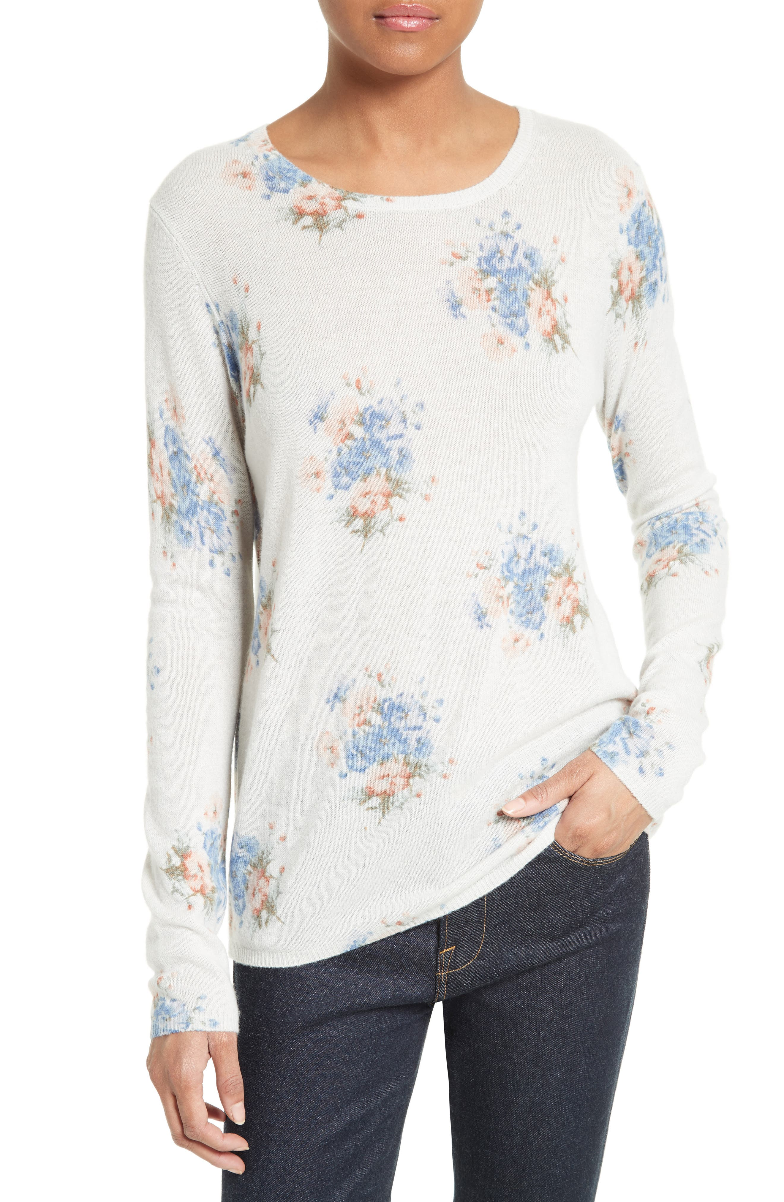 JOIE Feronia Floral Cashmere Sweater