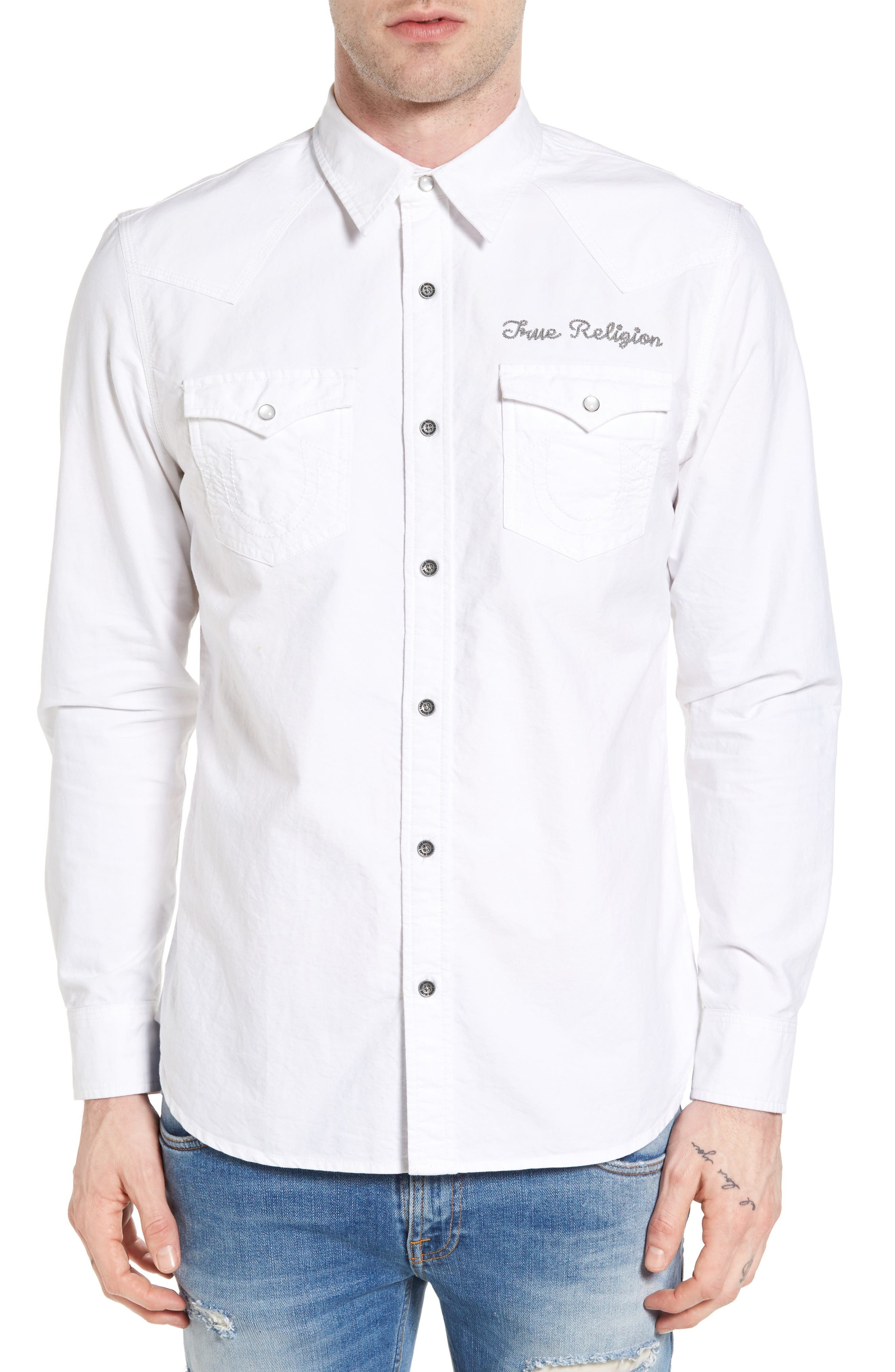 True Religion Brand Jeans Western Shirt