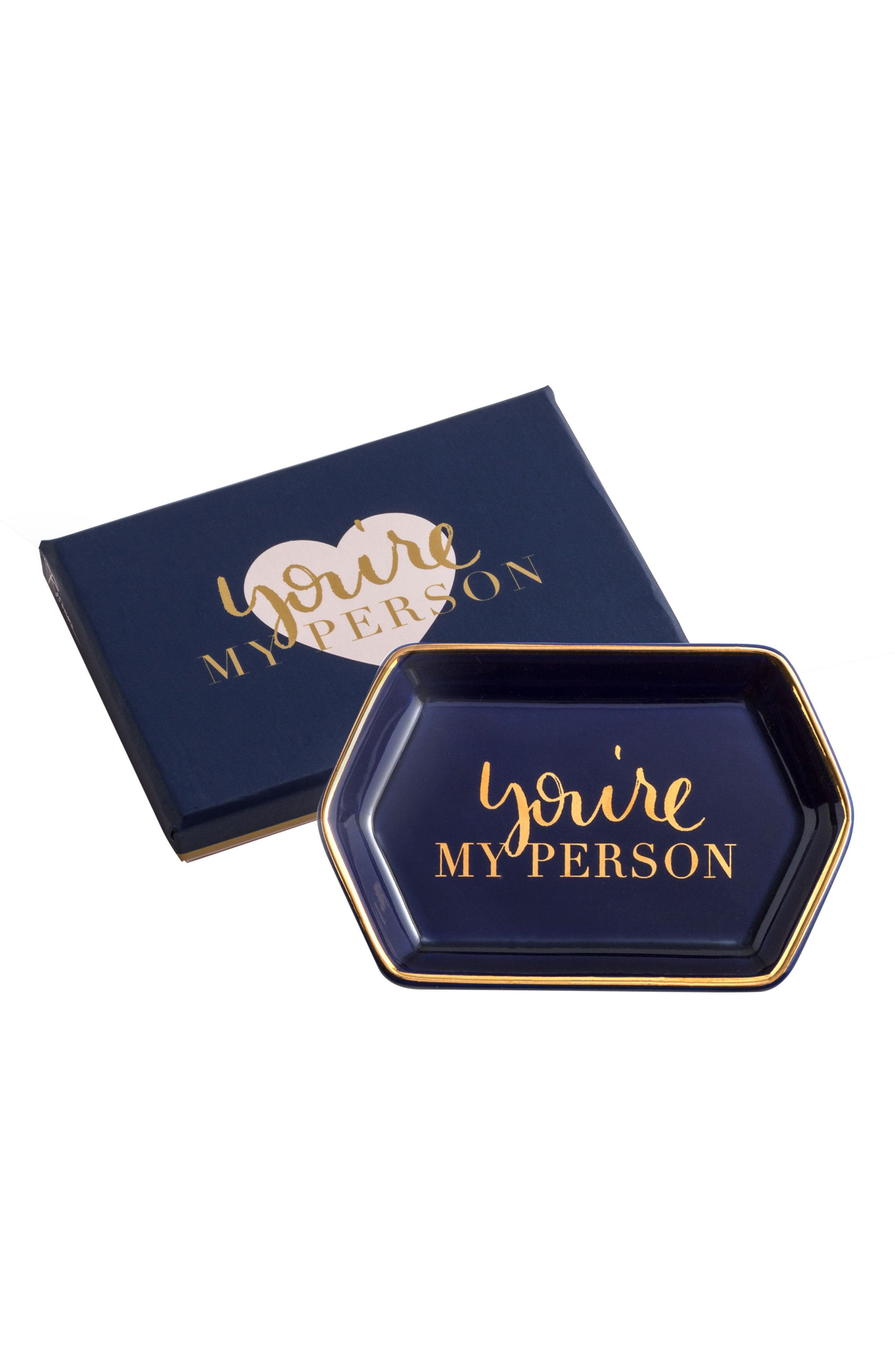Rosanna You're My Person Hexagon Trinket Tray