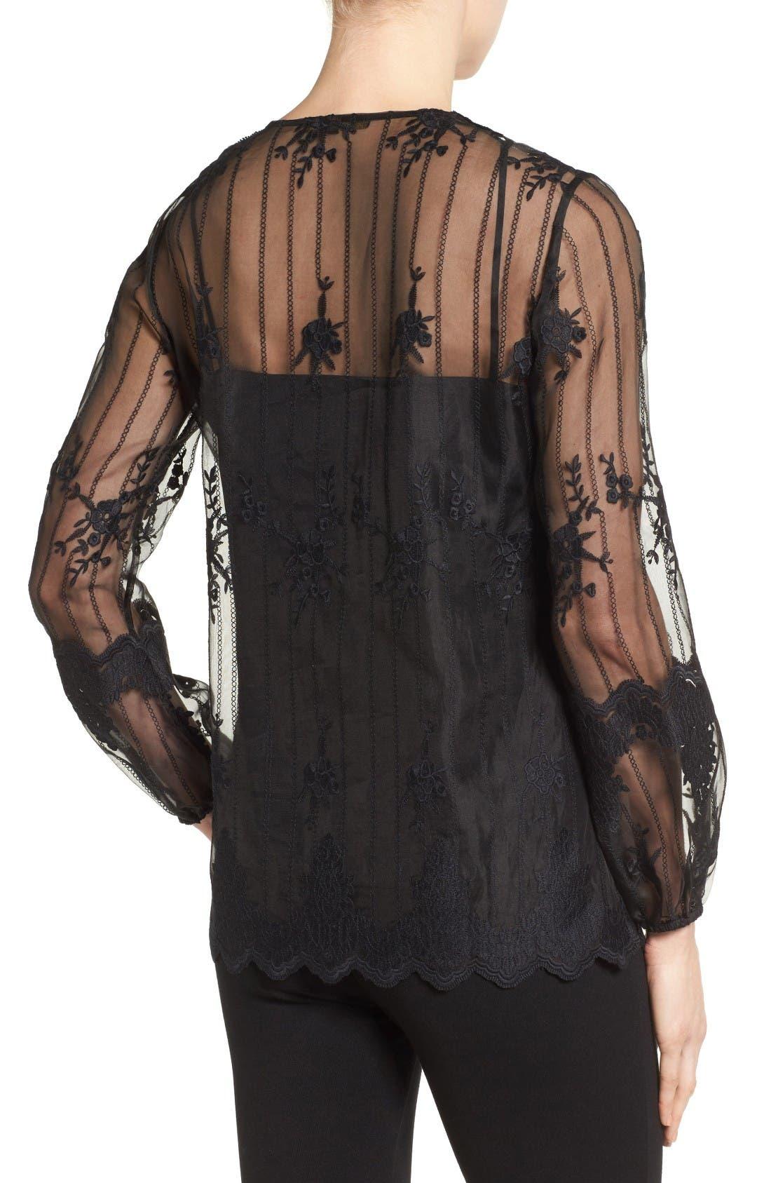 Alternate Image 2  - Kobi Halperin Westerlee Embroidered Lace Blouse