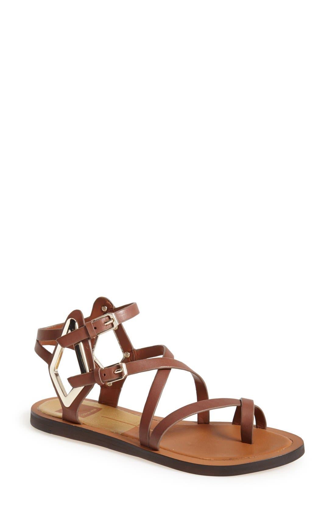 Alternate Image 1 Selected - Dolce Vita 'Ferrah' Flat Leather Sandal (Women)