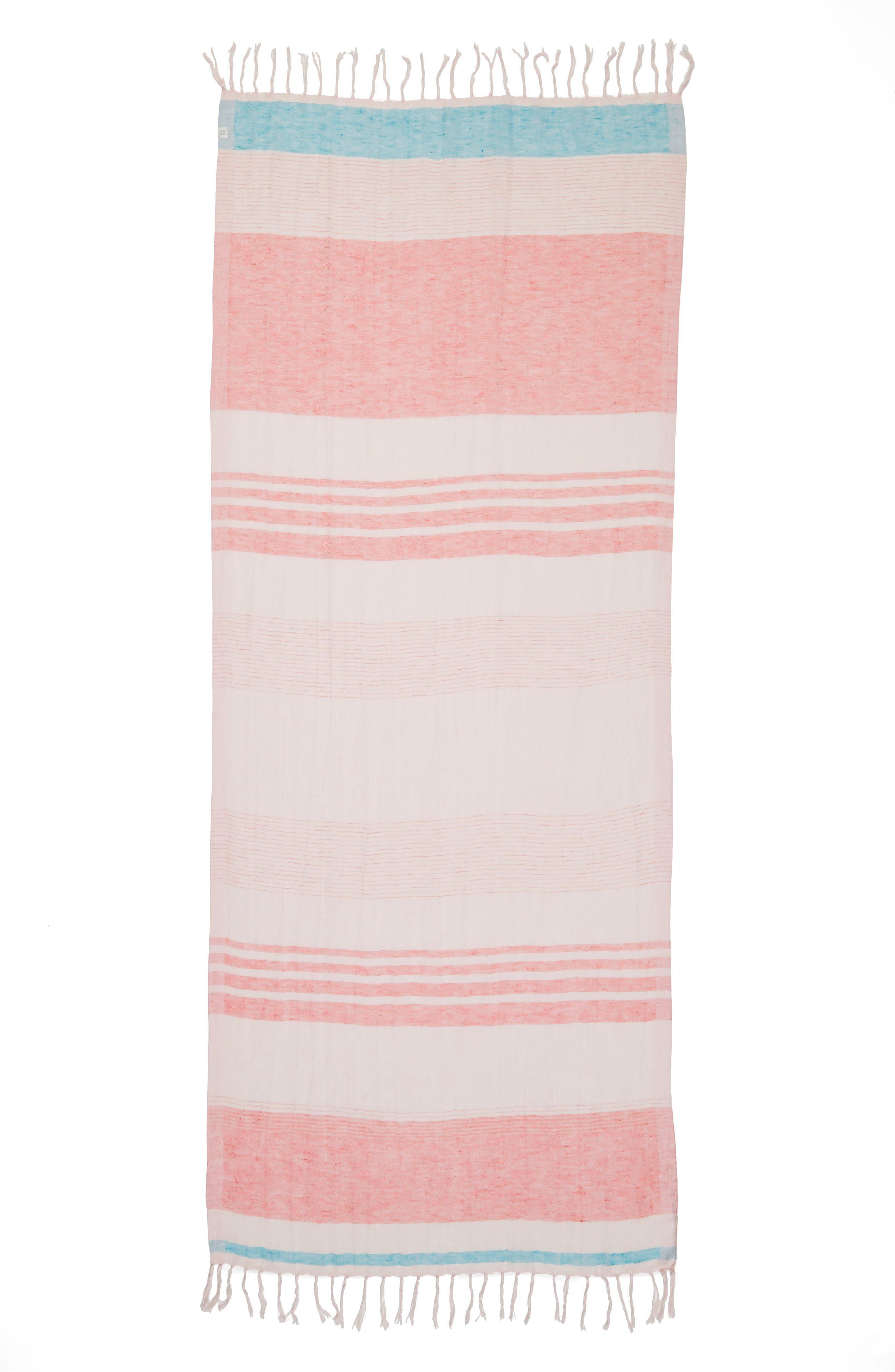 Alternate Image 2  - Caslon® Stripe Linen Blend Scarf