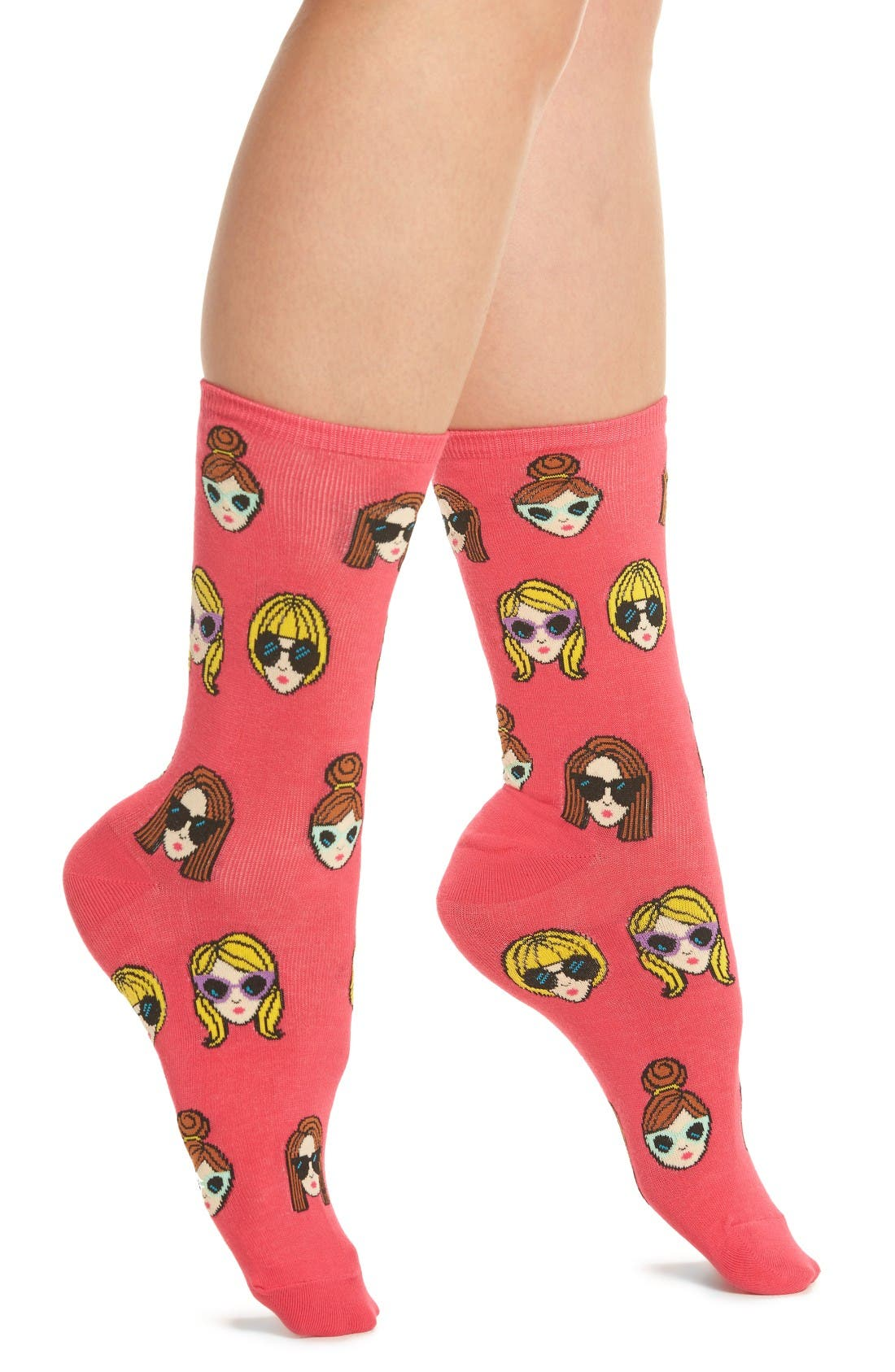 HOT SOX Girls in Shades Crew Socks
