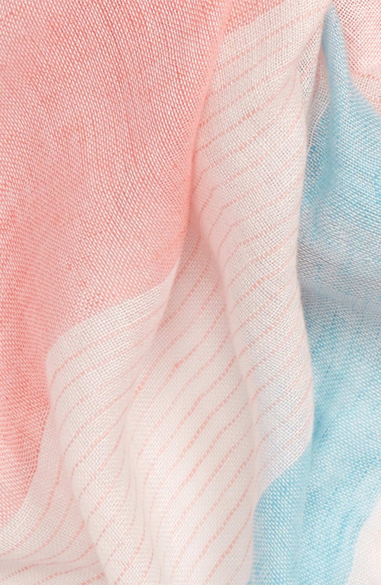 Alternate Image 3  - Caslon® Stripe Linen Blend Scarf