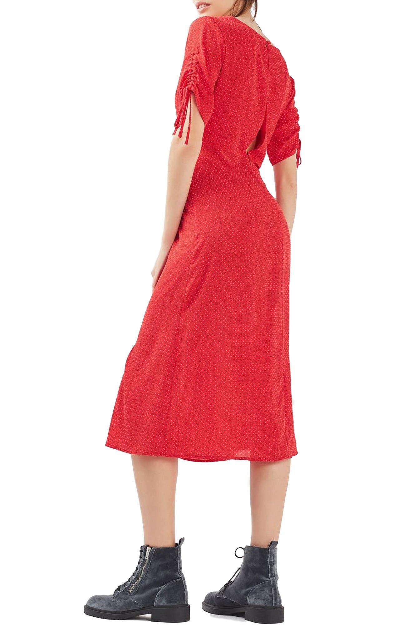 Alternate Image 4  - Topshop Spot Tea Dress