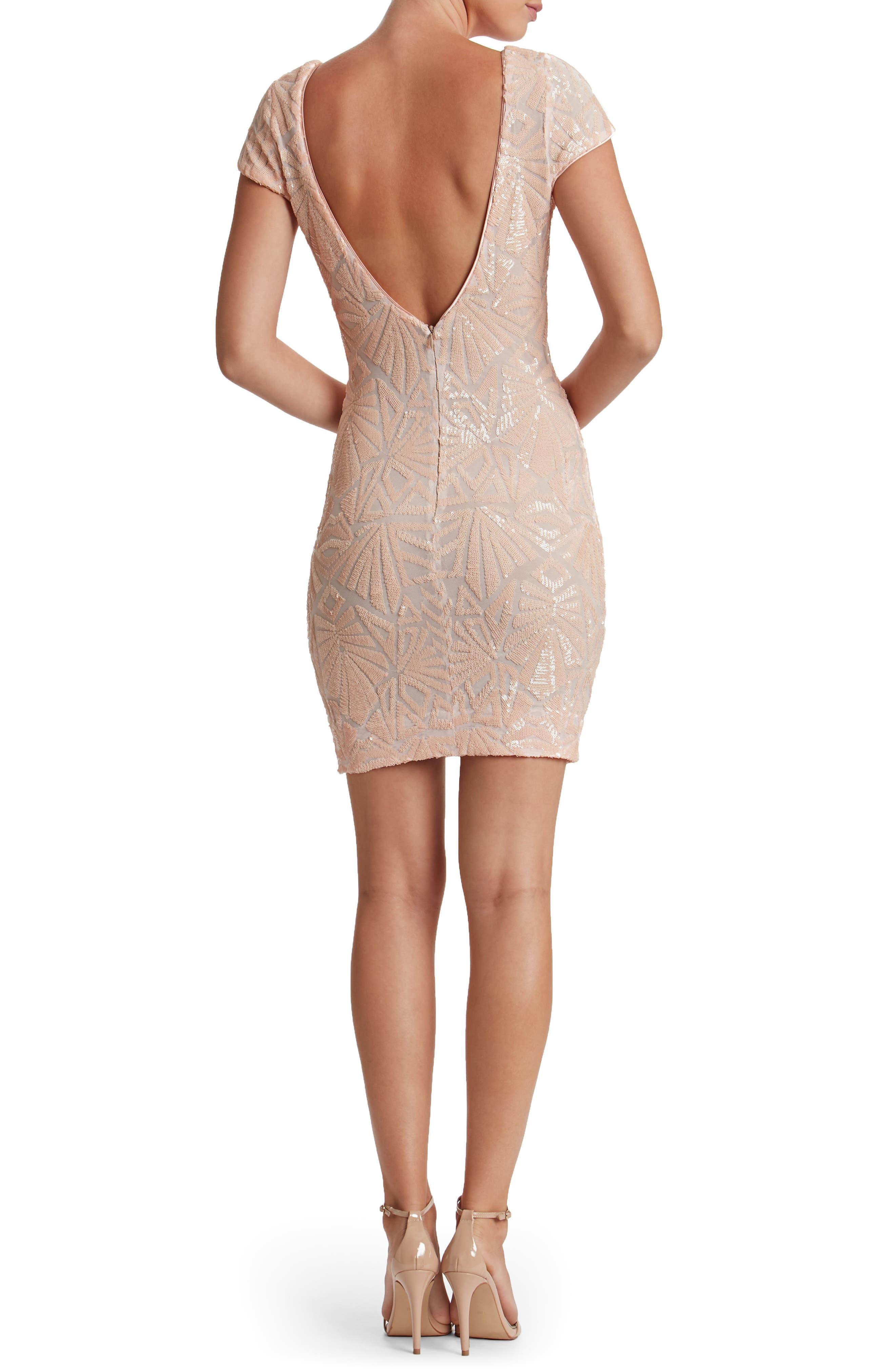 Alternate Image 3  - Dress the Population Tabitha Sequin Mesh Minidress