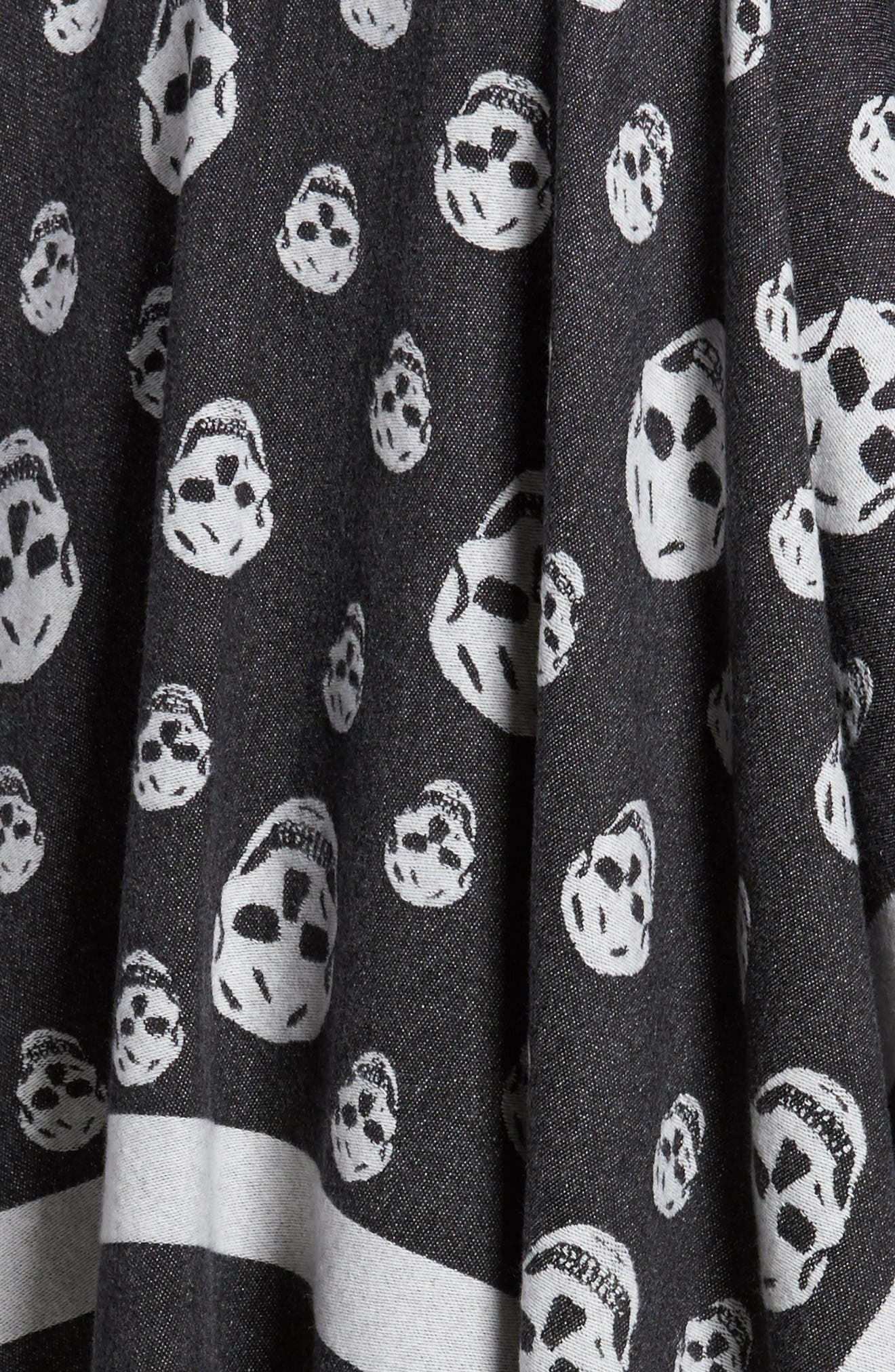 Alternate Image 5  - Alexander McQueen 'Big Skull' Wool & Cashmere Jacquard Poncho