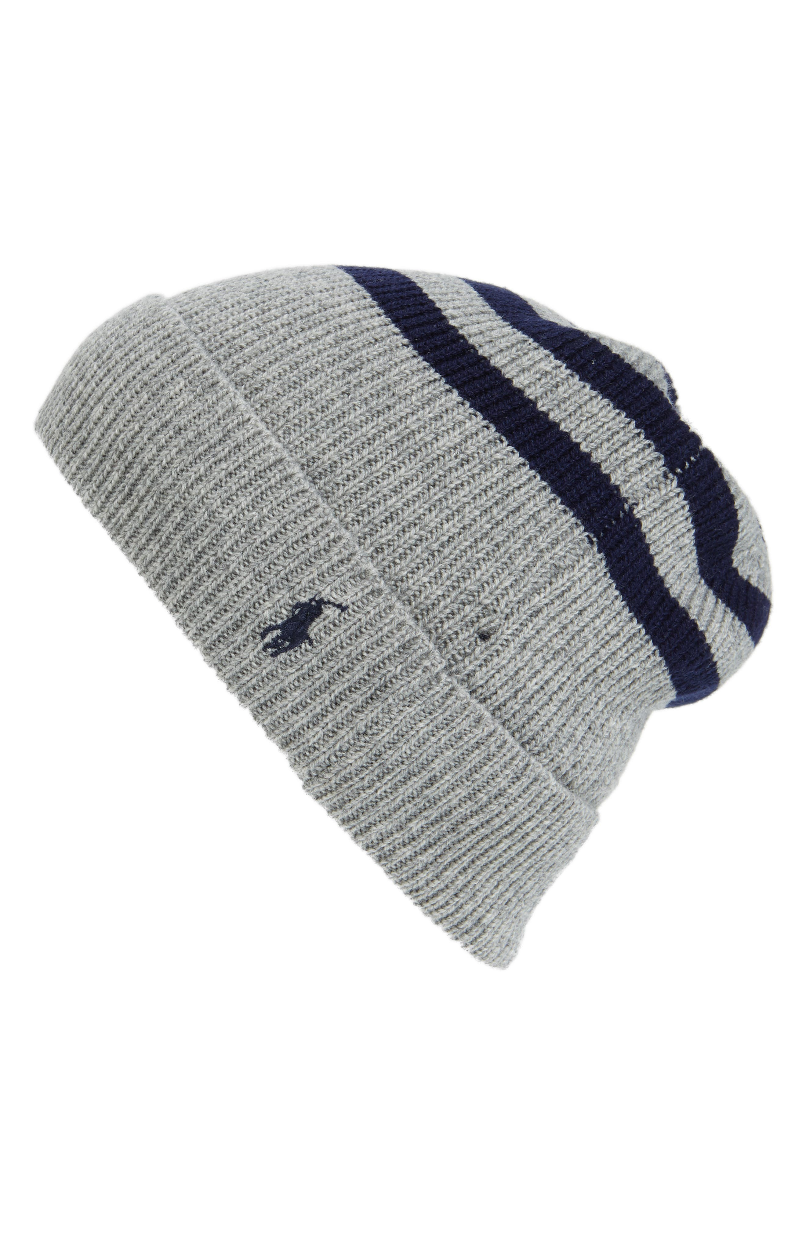 Alternate Image 1 Selected - Polo Ralph Lauren Rugby Stripe Beanie