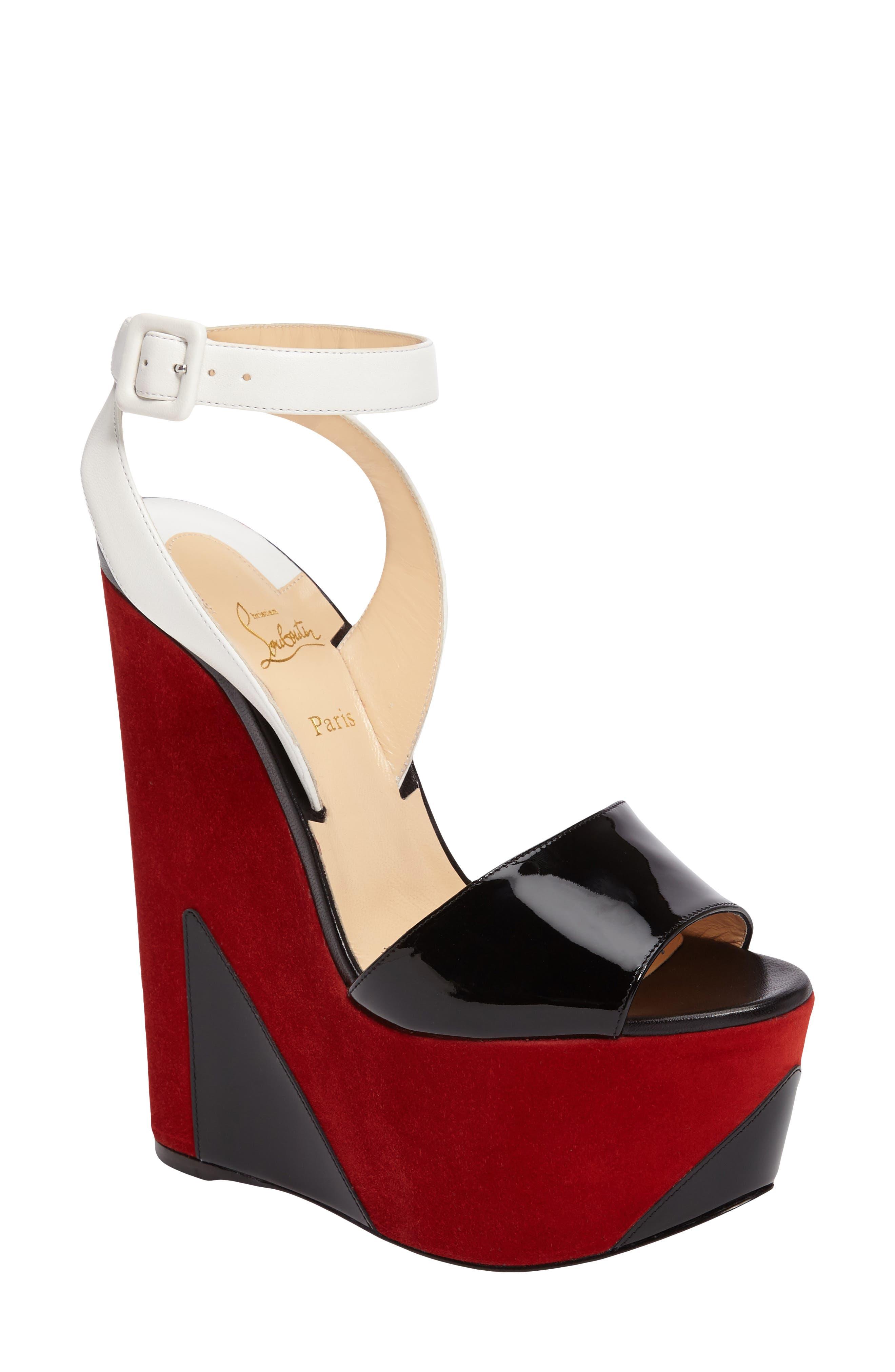 Alternate Image 1 Selected - Christian Louboutin Tromploia Platform Sandal (Women)