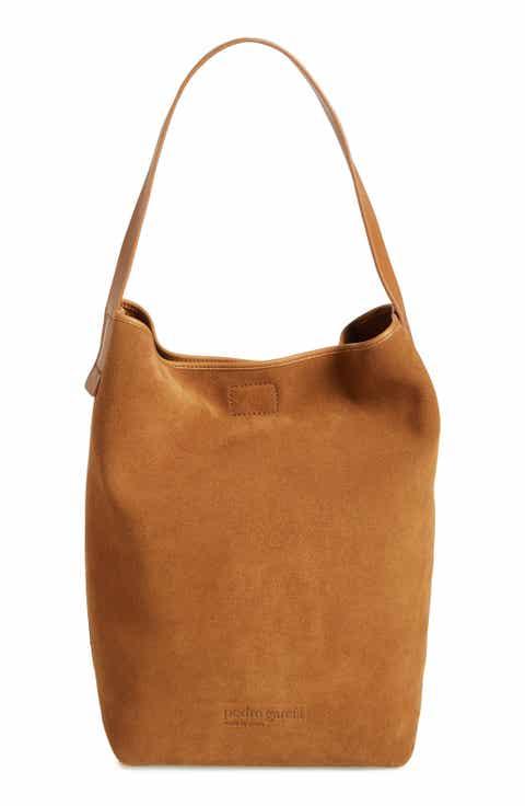 Pedro Garcia Colorblock Suede Bucket Bag