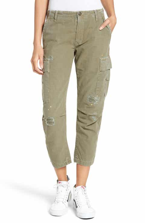 Green Cropped Pants for Women: Jeans, Print, Capri & More | Nordstrom