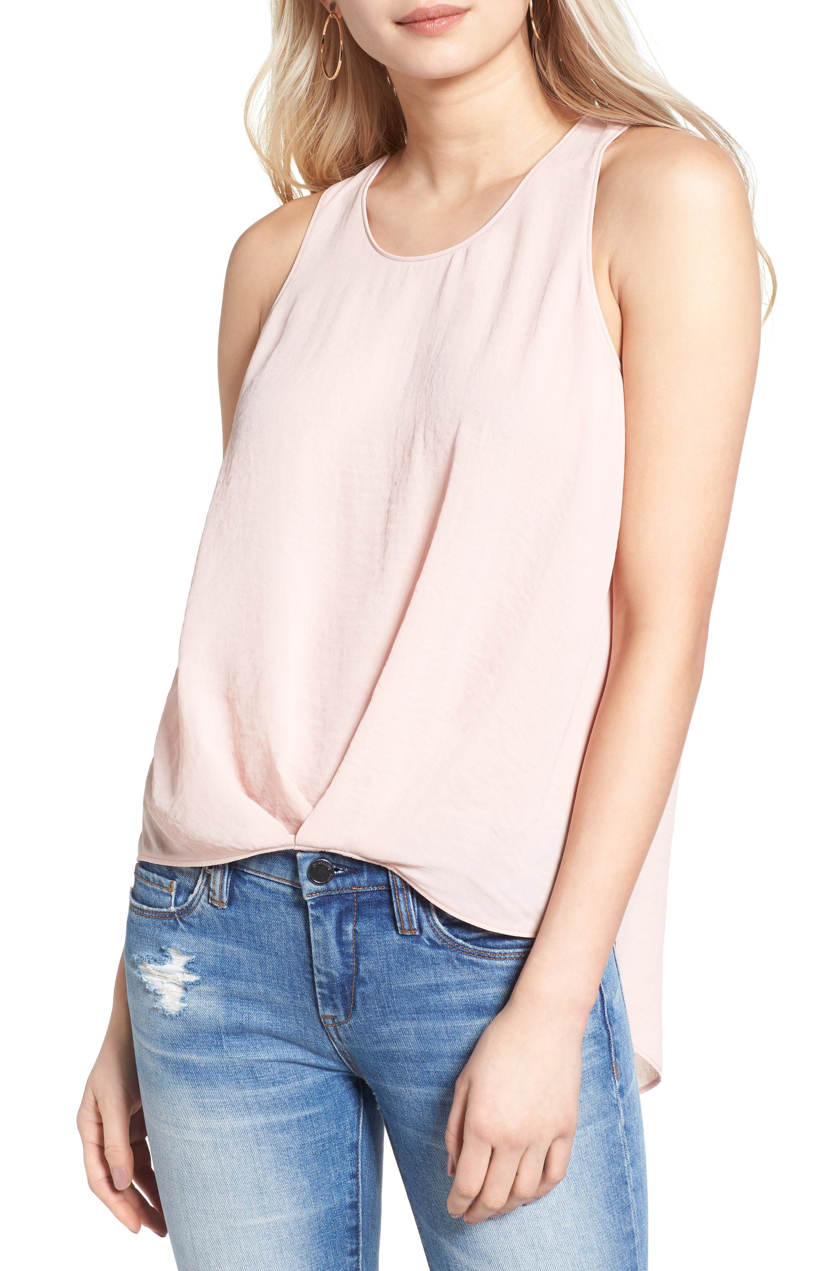 ASTR THE LABEL Textured High/Low Tank