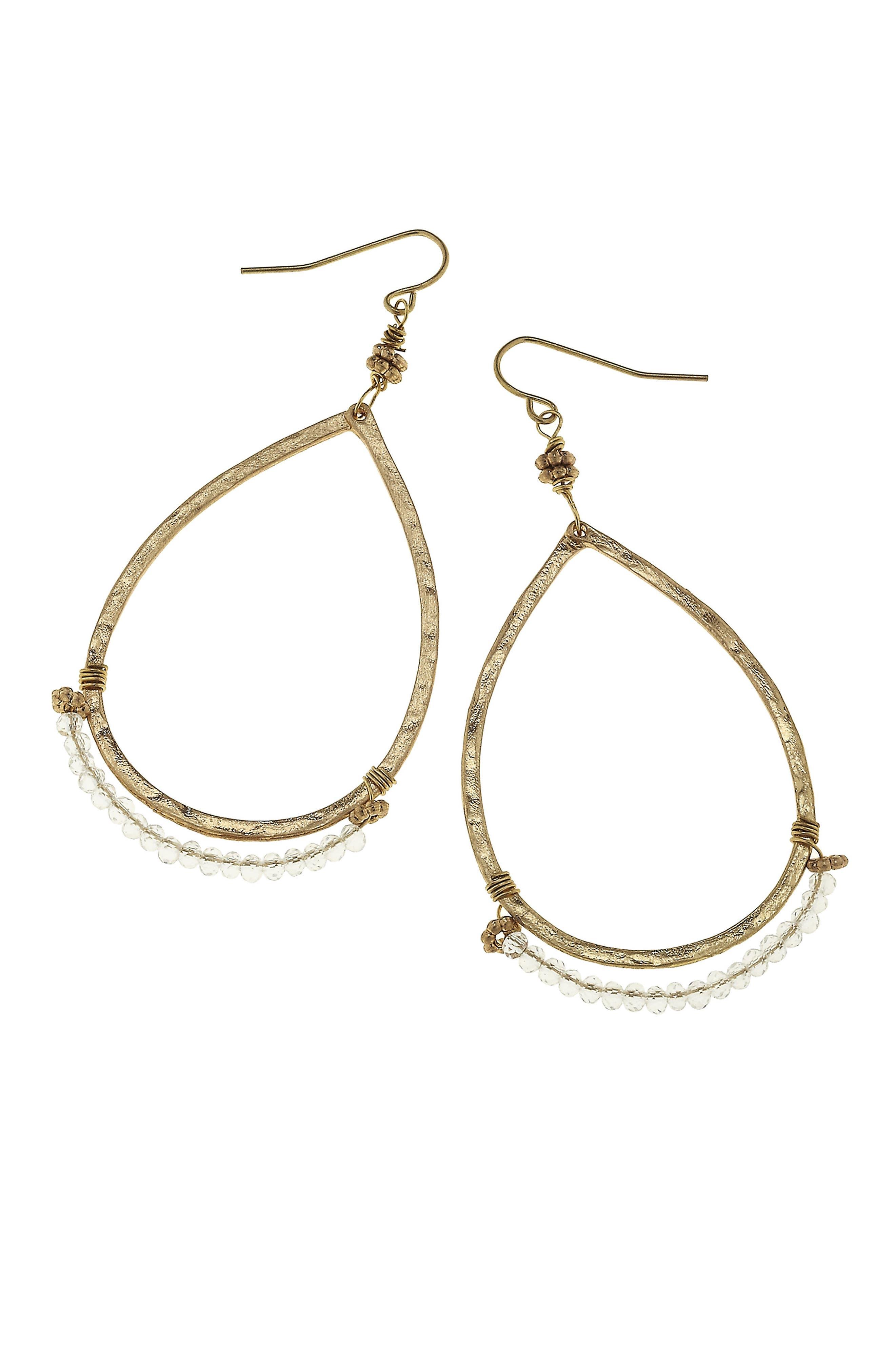 CANVAS JEWELRY Beaded Teardrop Earrings