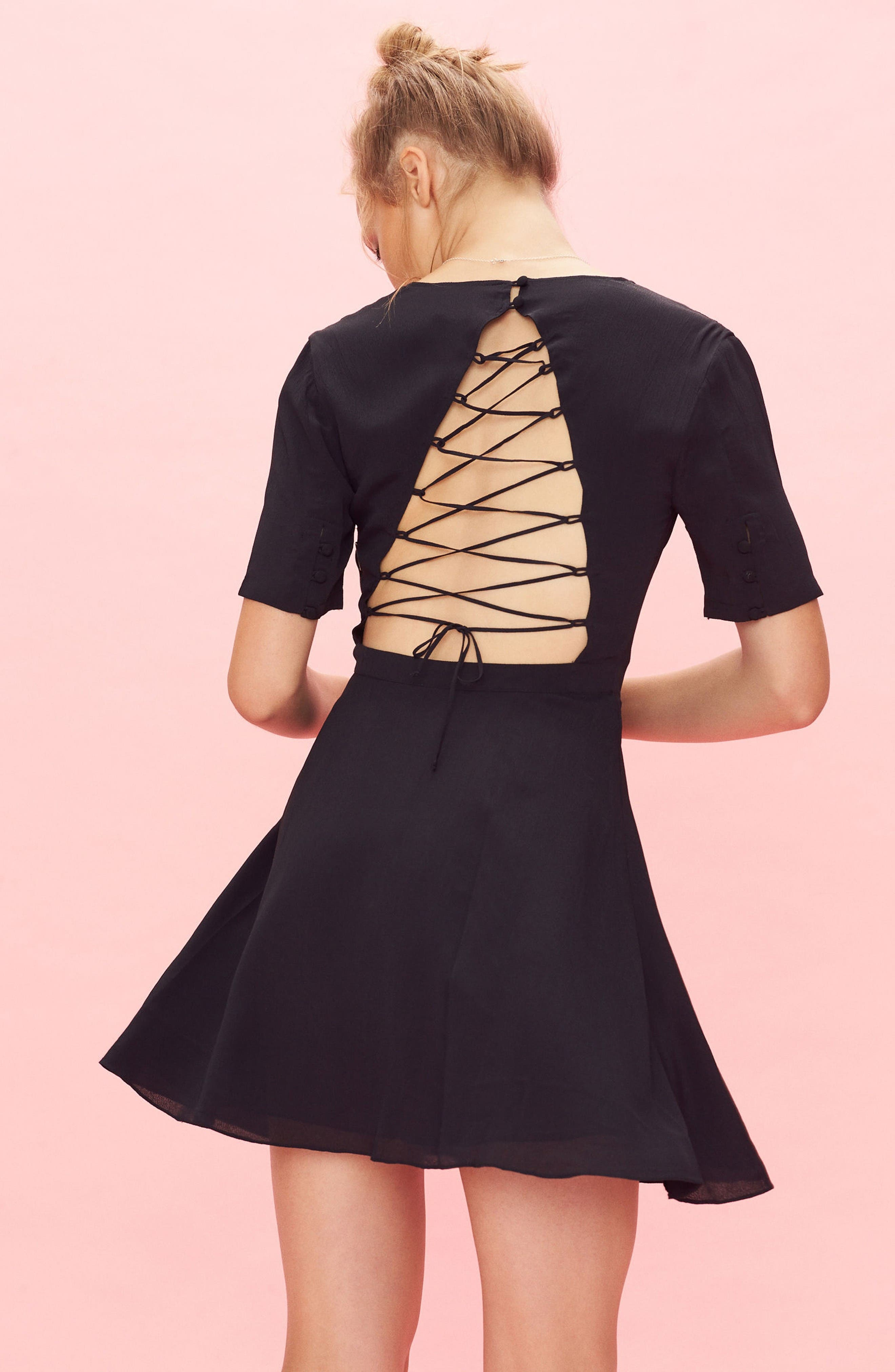 Alternate Image 2  - Privacy Please Virginia Lace-Up Back Dress