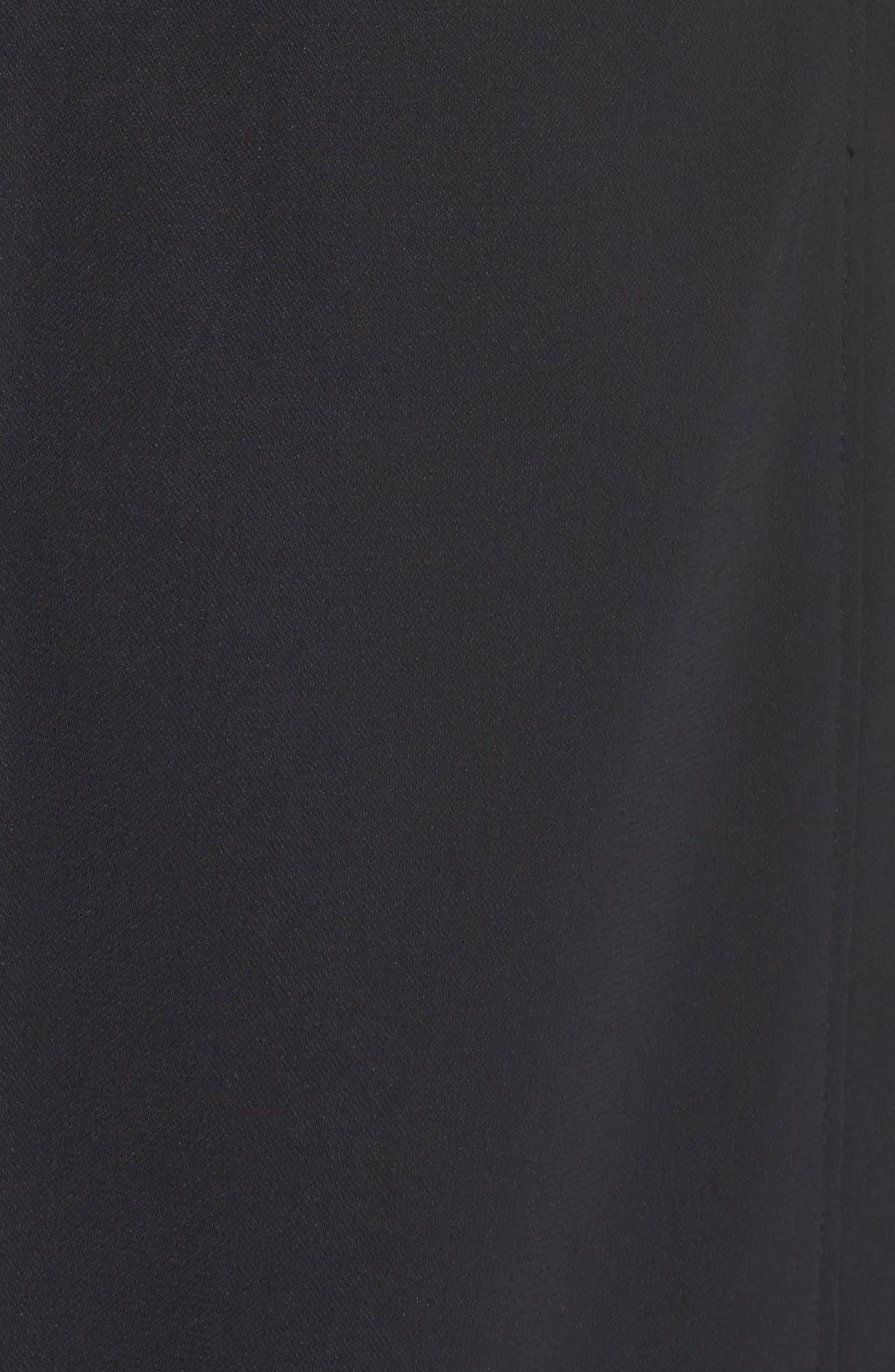 Alternate Image 6  - Adrianna Papell Cold Shoulder Stretch A-Line Dress