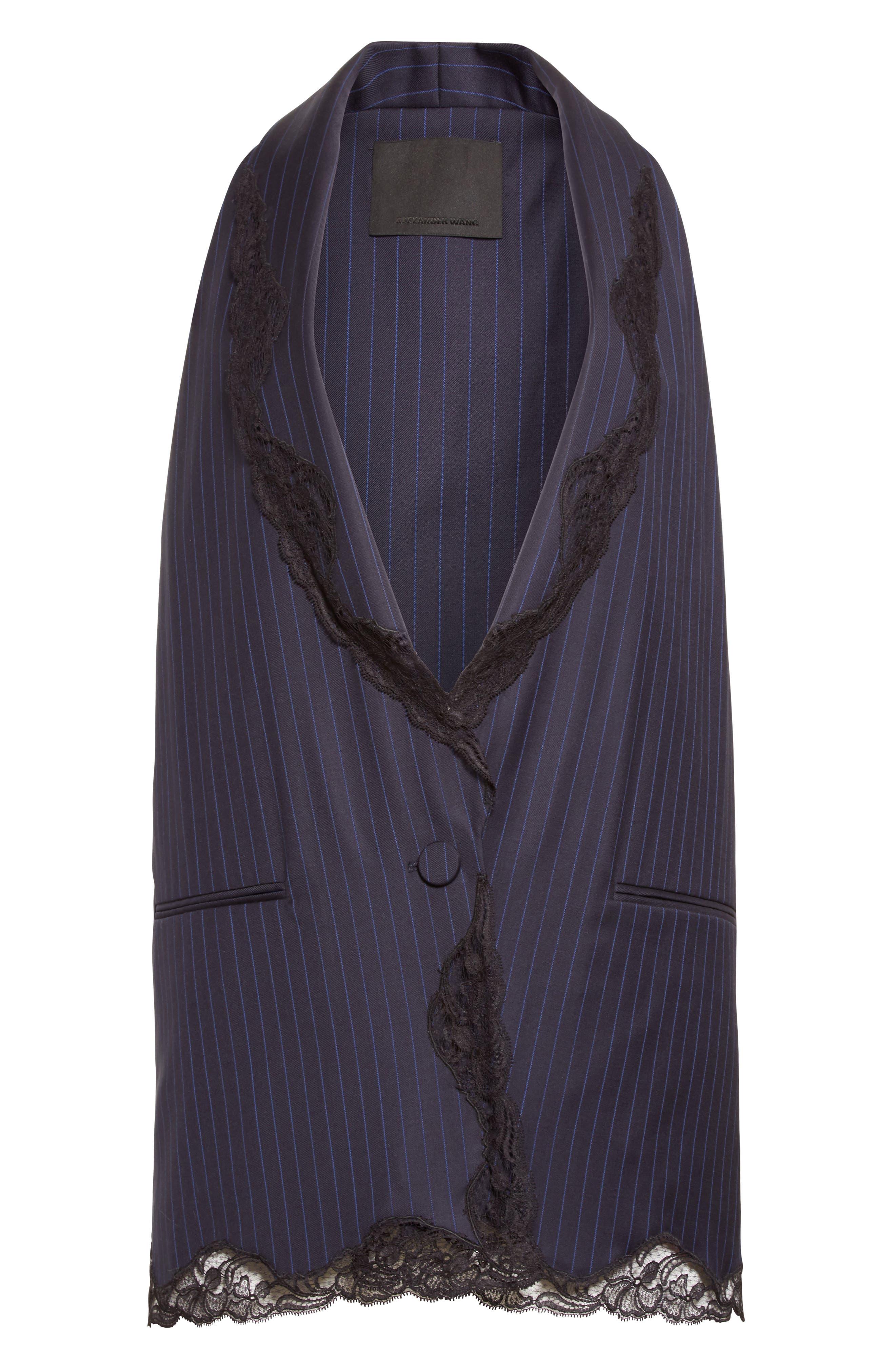 Alternate Image 4  - Alexander Wang Lace Trim Pinstripe Vest