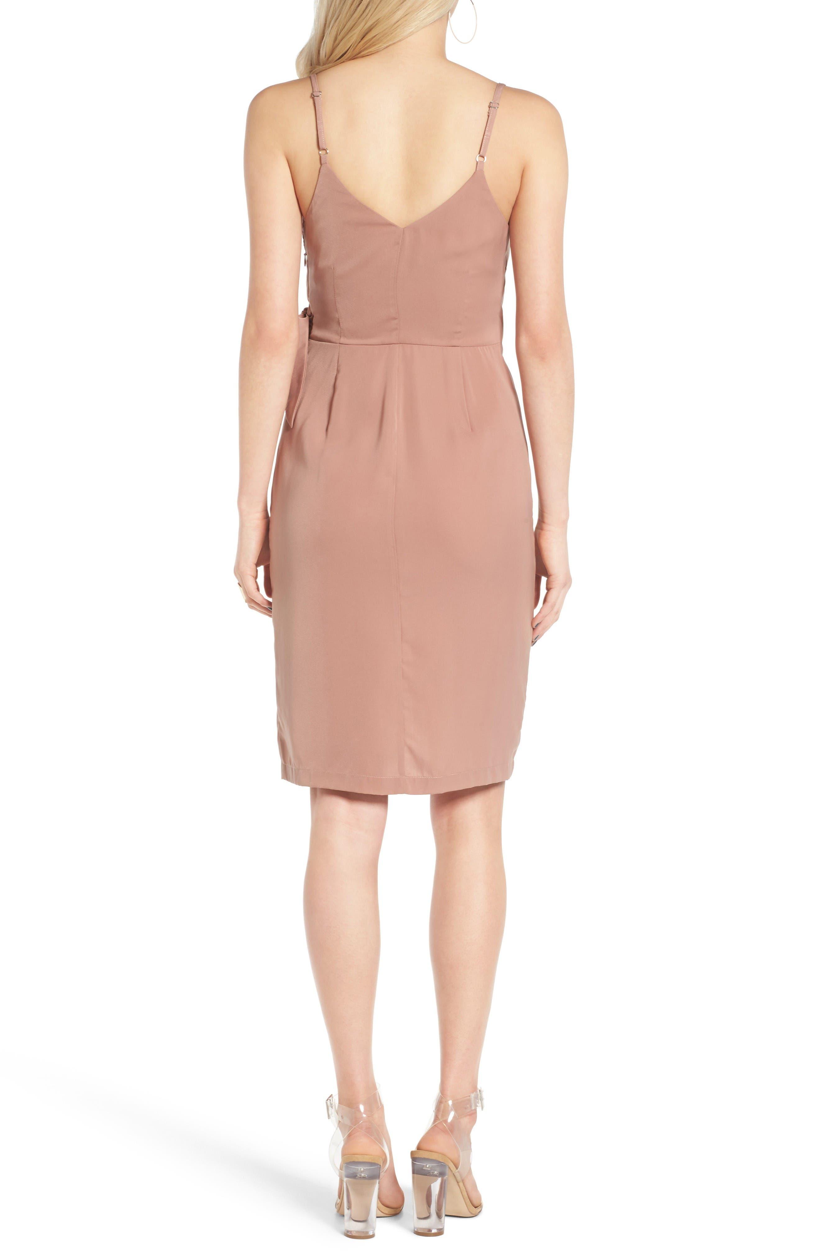 Alternate Image 2  - Leith Satin Wrap Dress