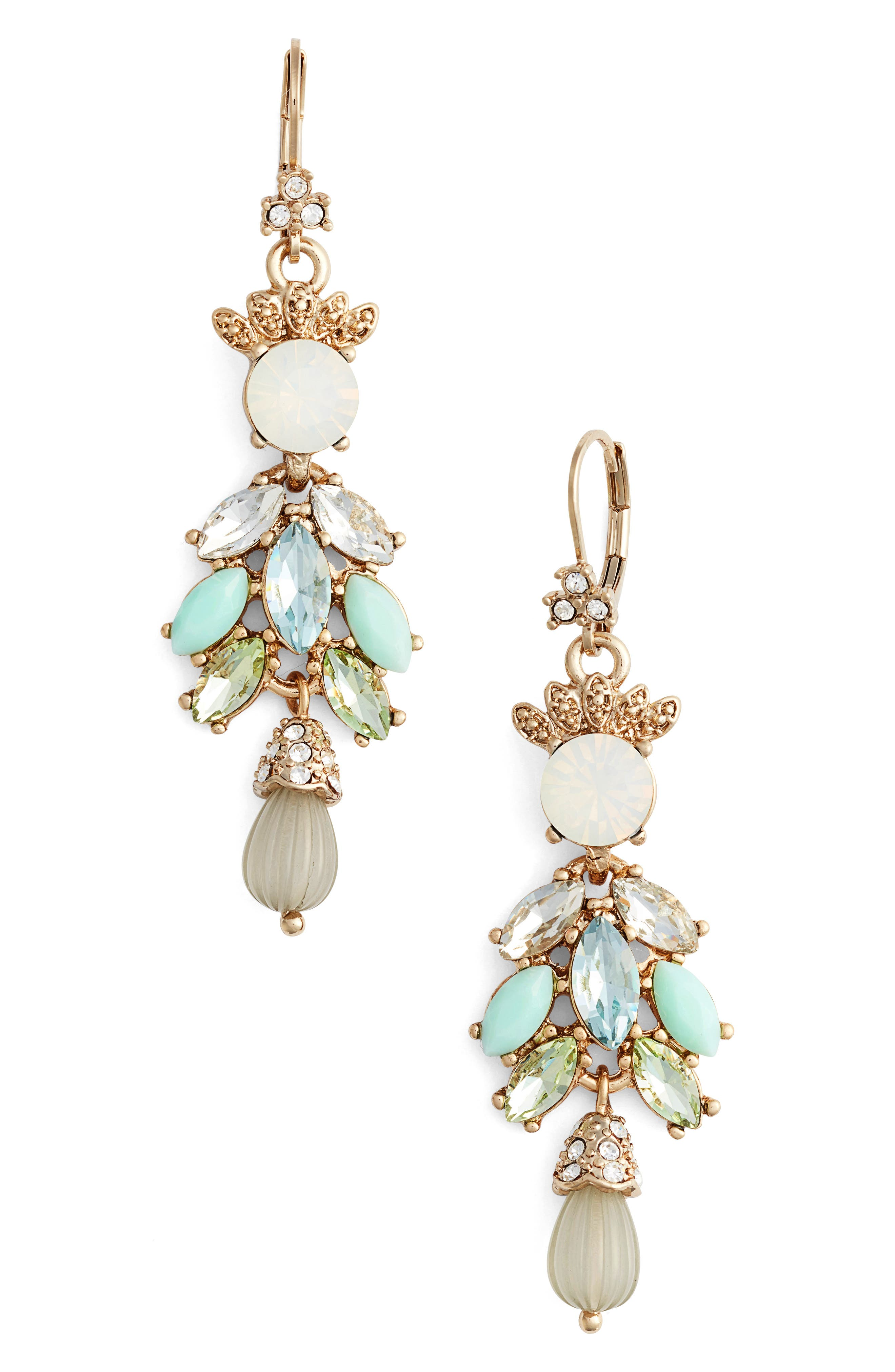 Main Image - Marchesa Sheer Bliss Cluster Drop Earrings