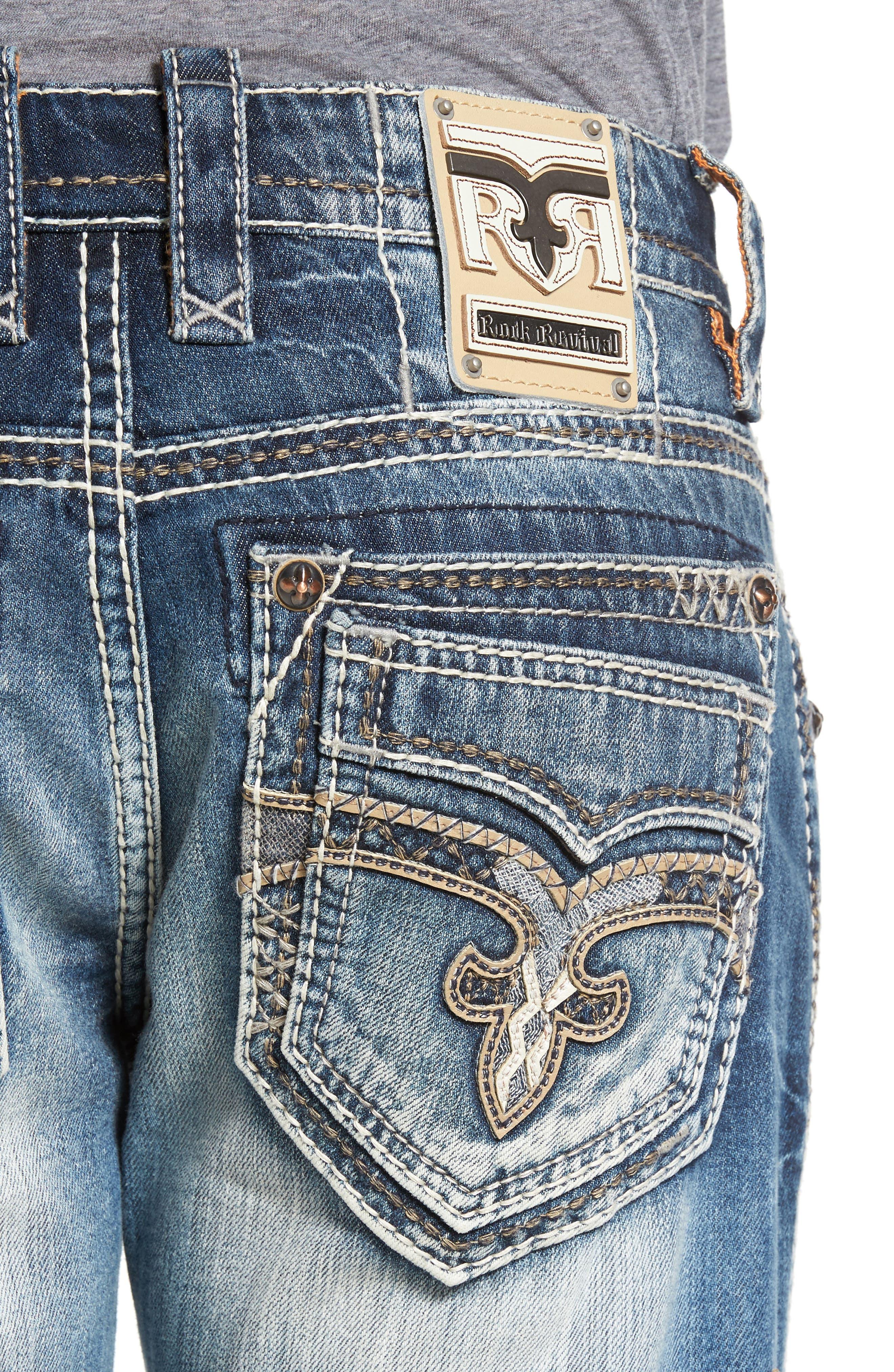 Alternate Image 4  - Rock Revival Straight Leg Jeans