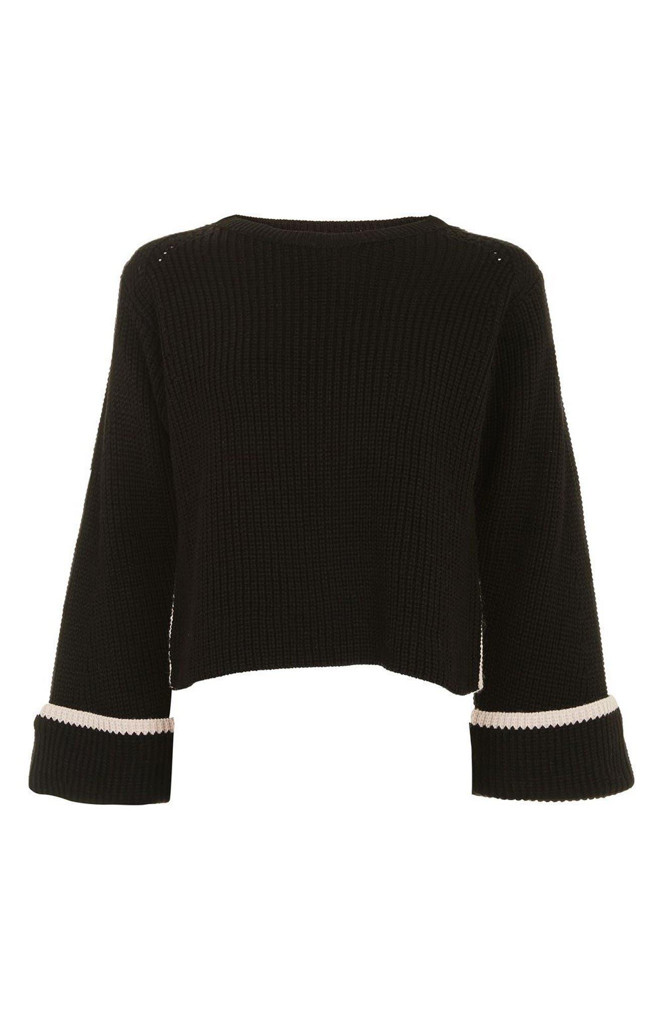 Alternate Image 4  - Topshop Contrast Back Sweater