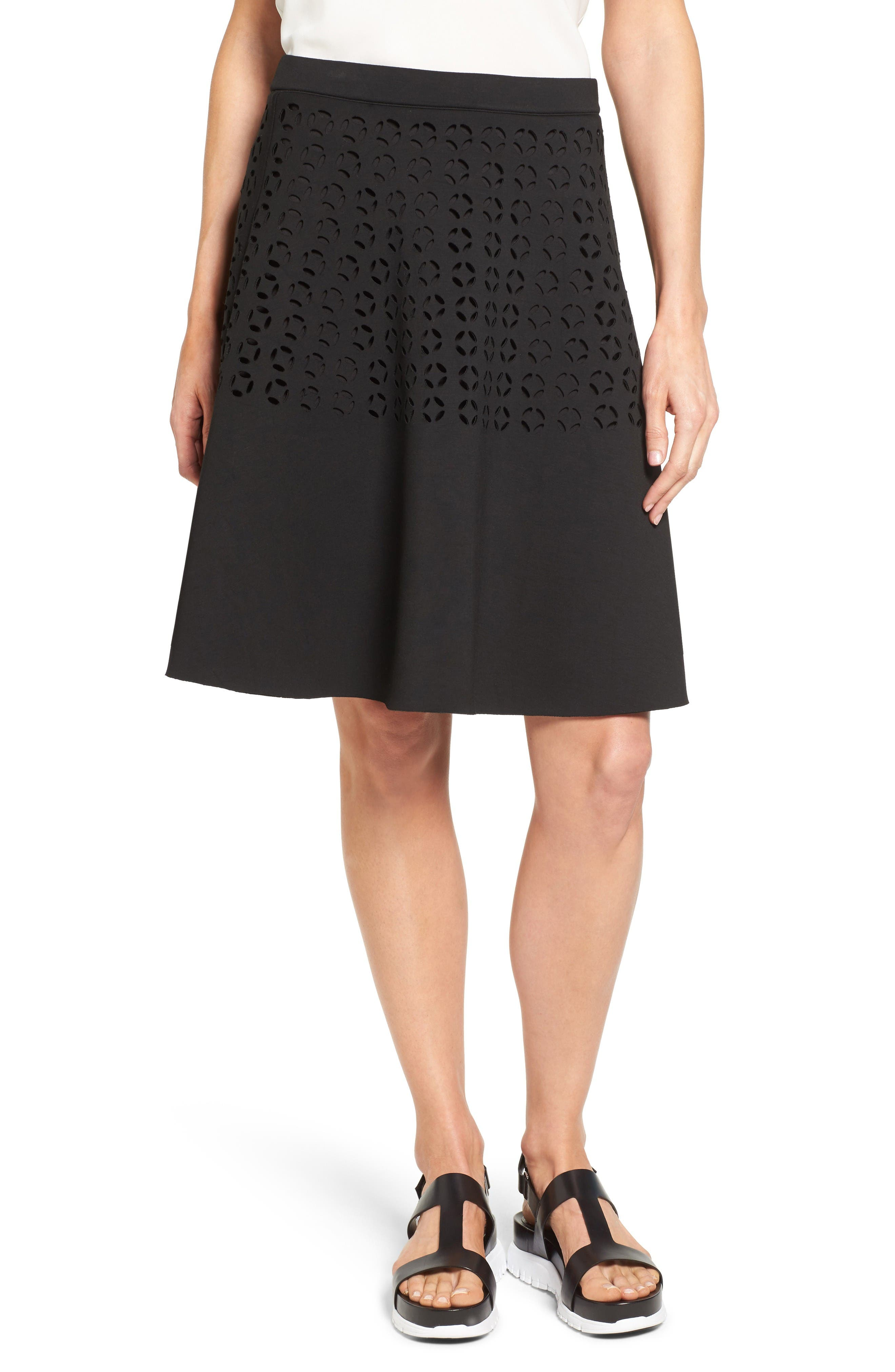 Halogen® Laser Cut Neoprene Skirt