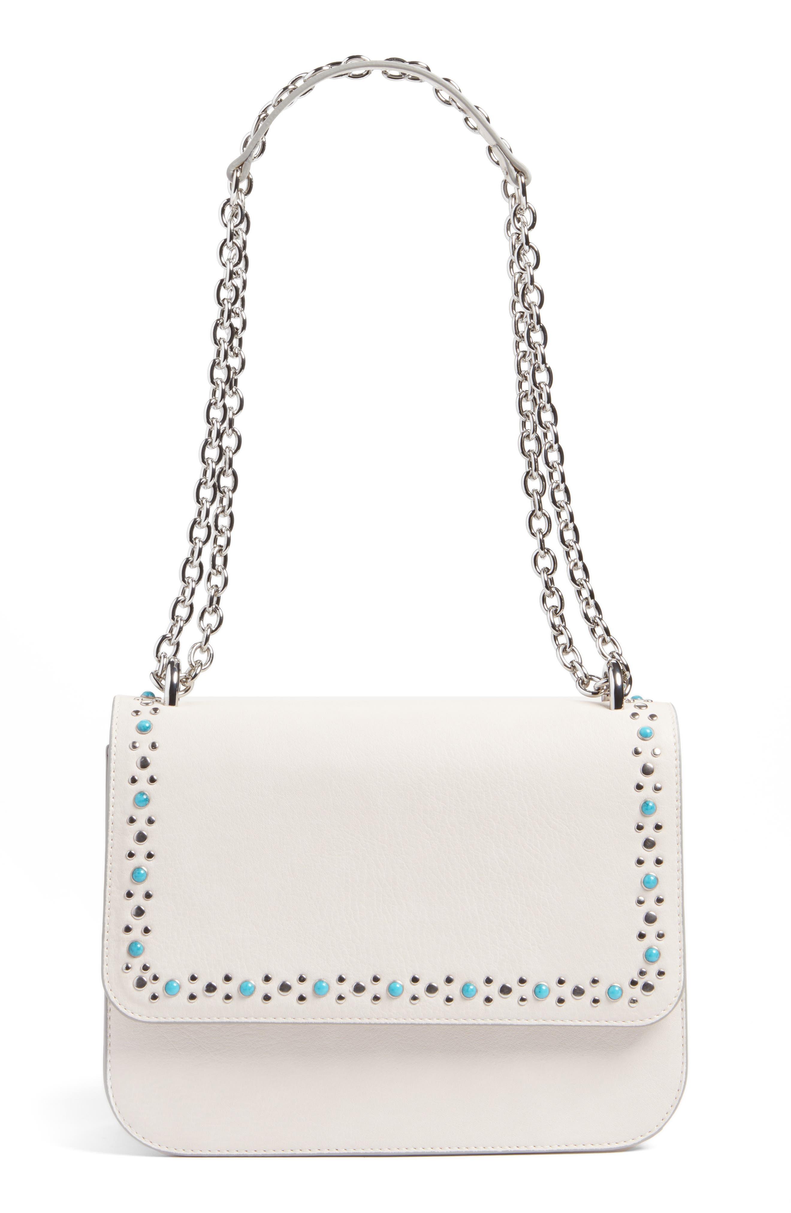 Alternate Image 1 Selected - Chelsea28 Dahlia Stone Faux Leather Crossbody Bag