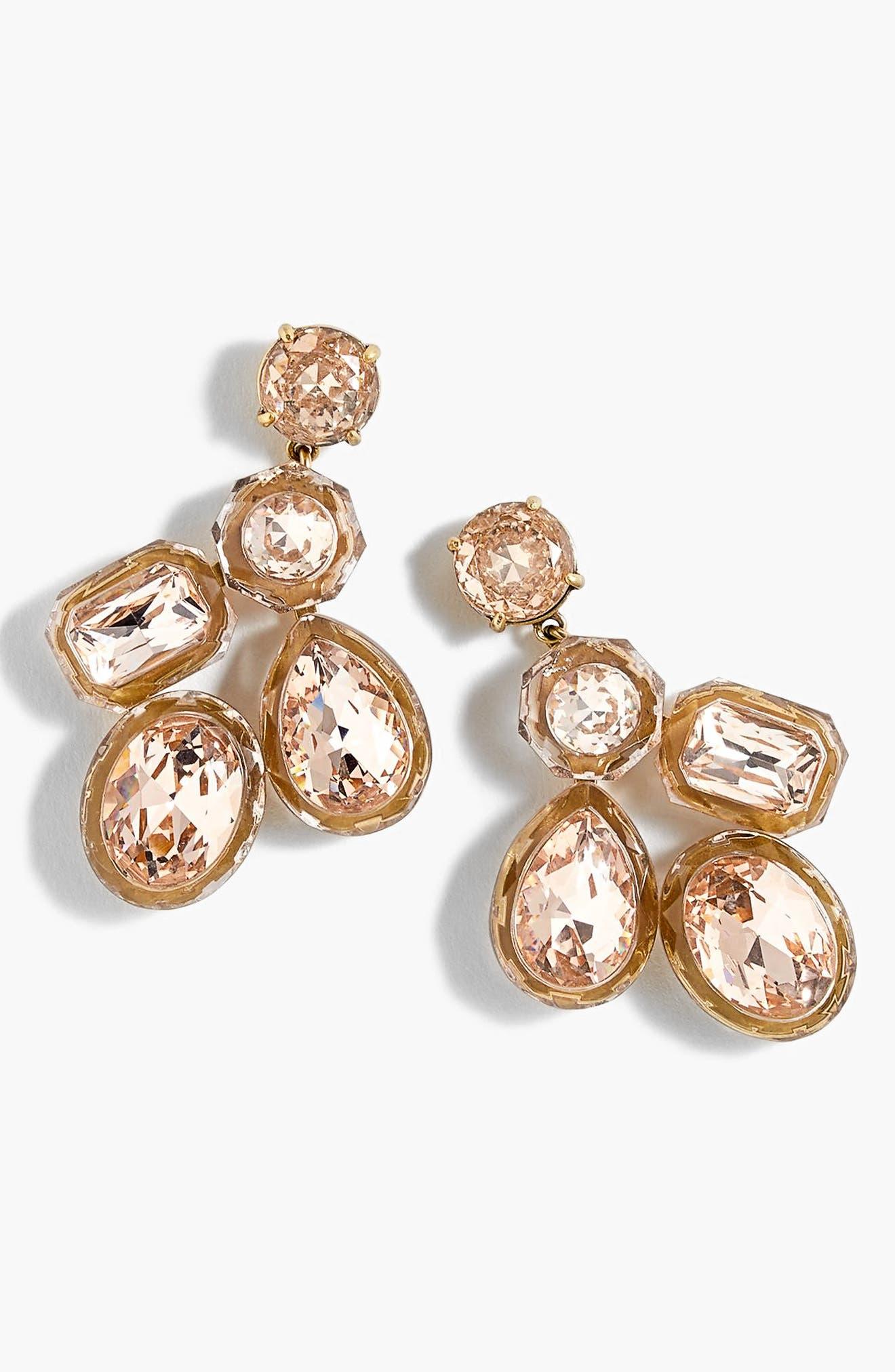 Main Image - J.Crew Jewel Box Cluster Earrings