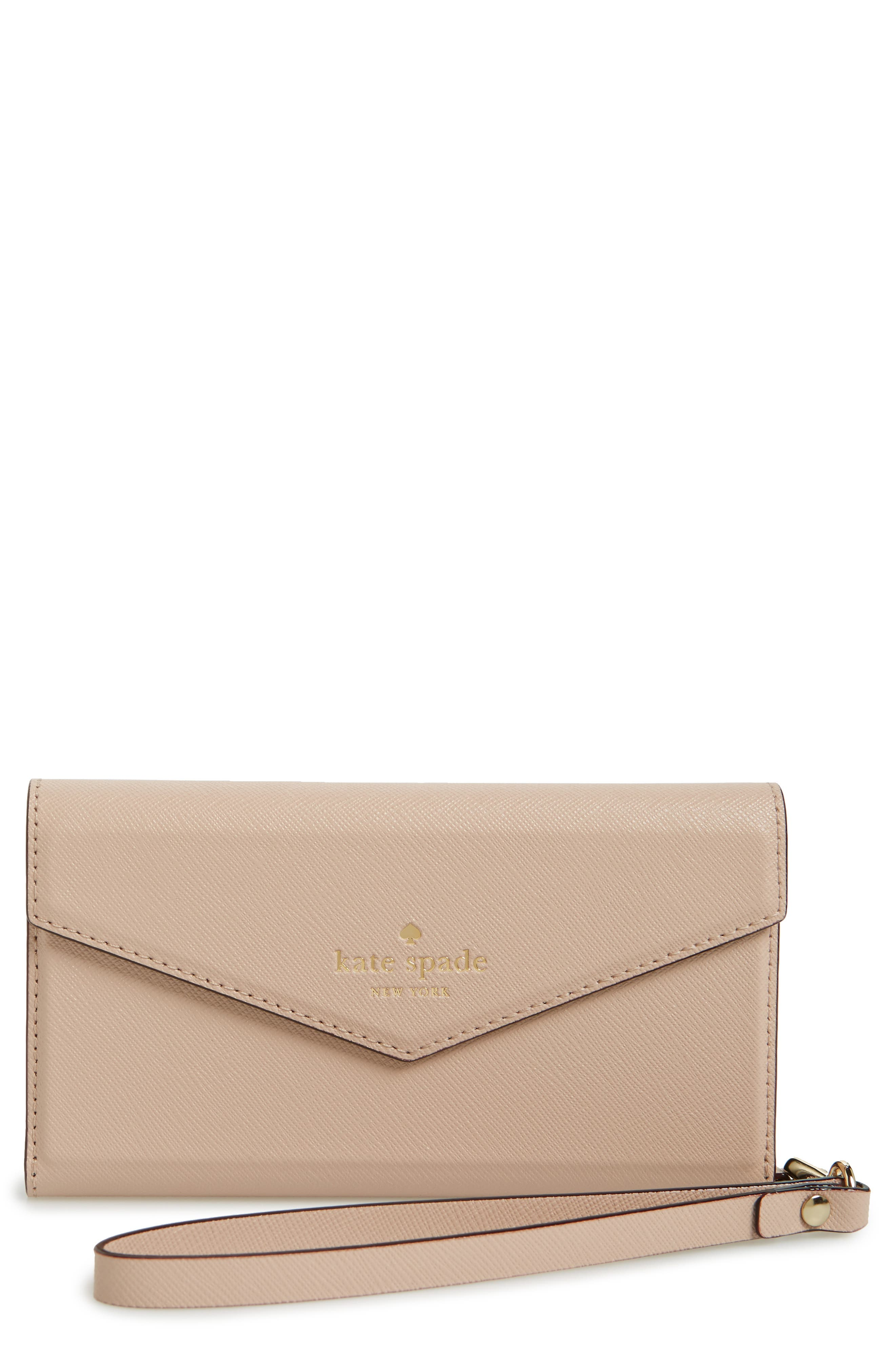 kate spade new york iPhone 7 leather wristlet
