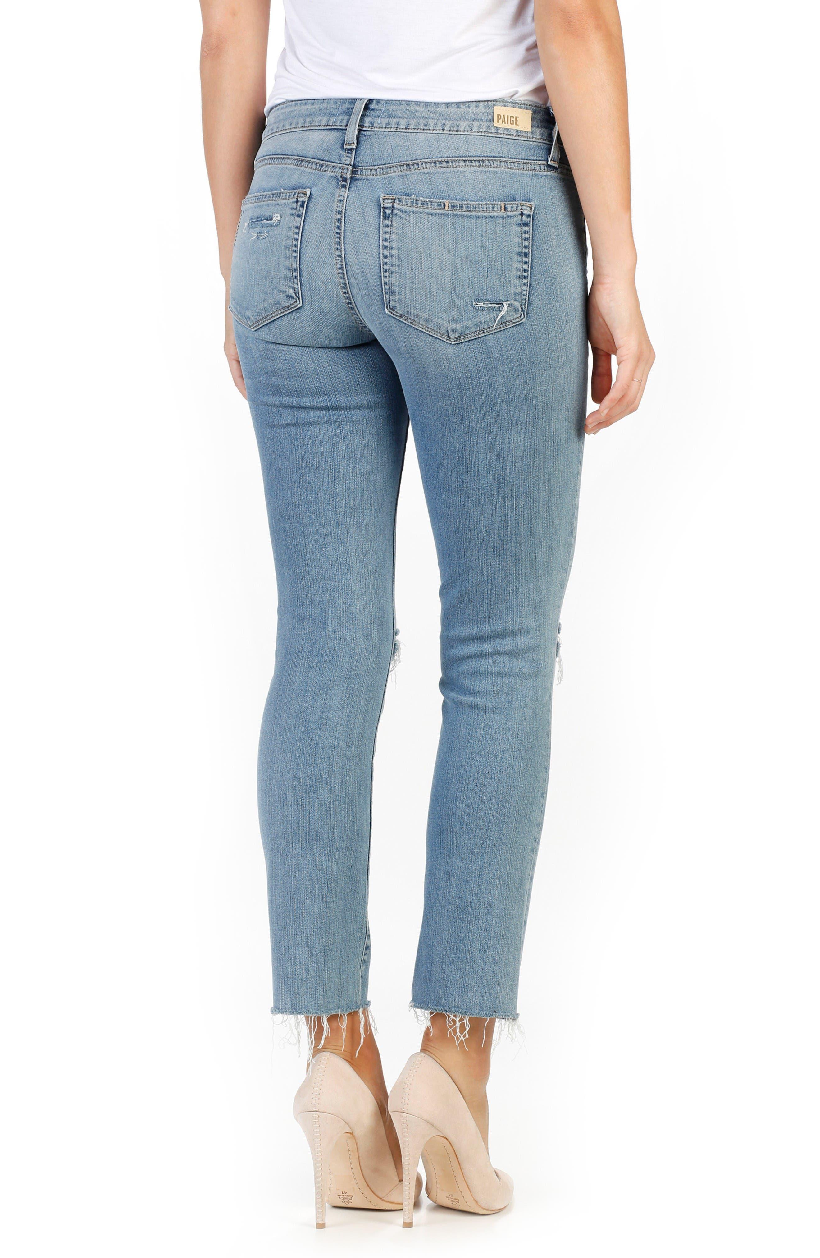 Alternate Image 2  - PAIGE Miki Ankle Straight Leg Jeans (Bella Destructed)