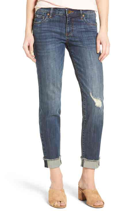 KUT from the Kloth Amy Stretch Raw Hem Jeans (Credible)