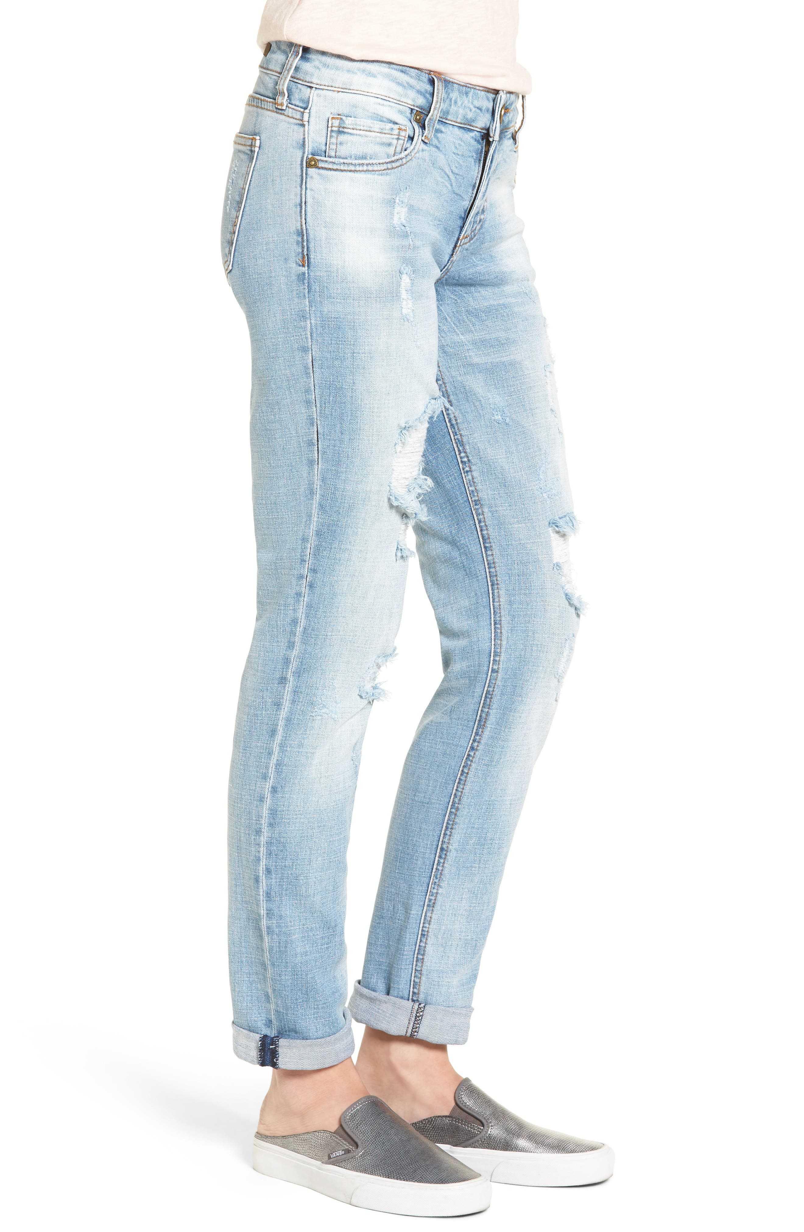 Alternate Image 3  - KUT from the Kloth Catherine Distressed Boyfriend Jeans (Hail)