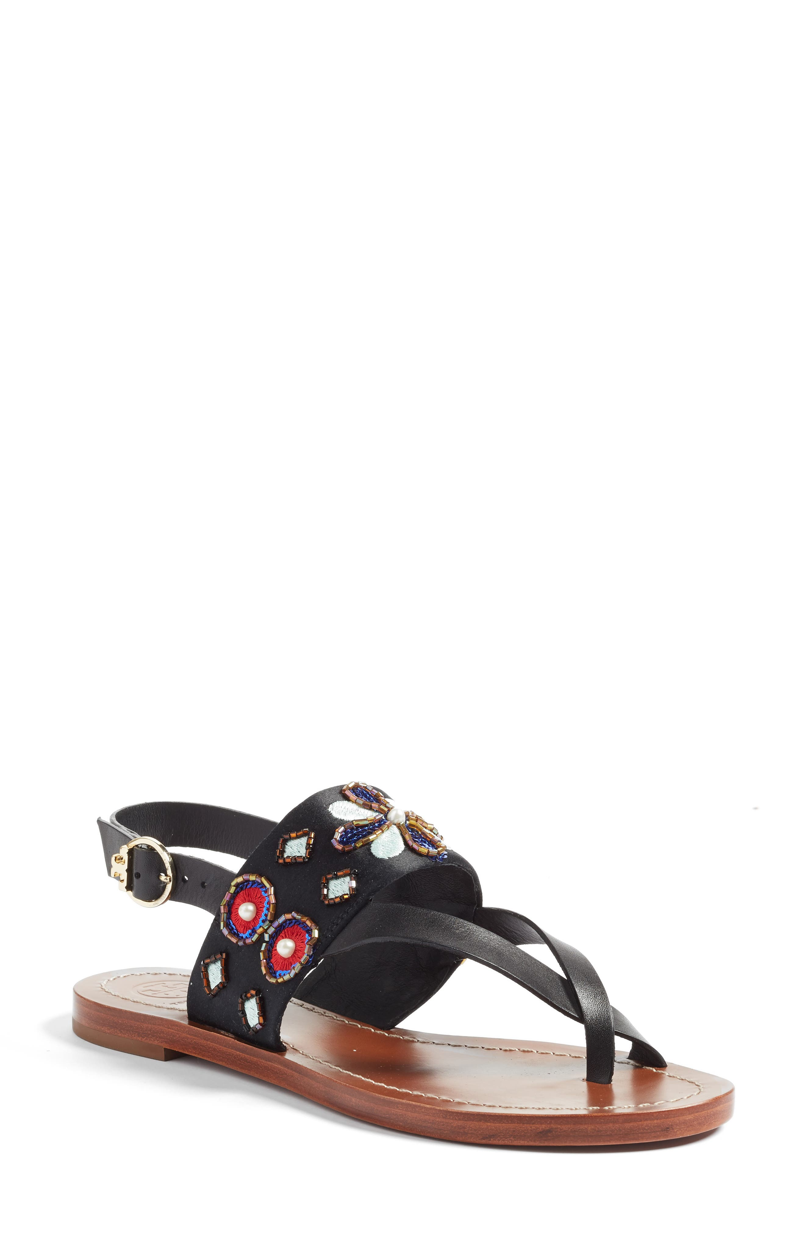 Tory Burch Estella Embellished Sandal (Women)