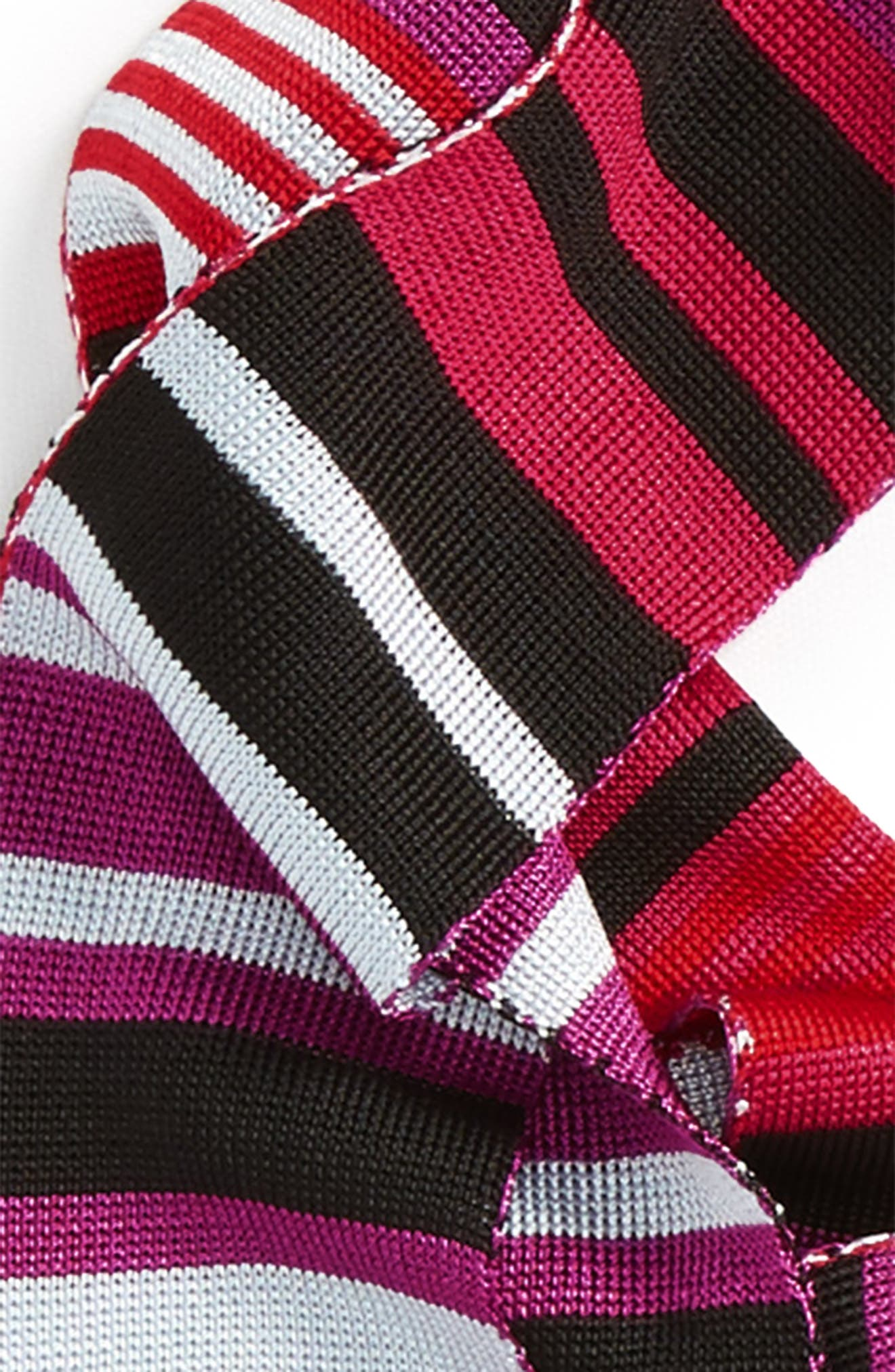 Alternate Image 3  - Halogen® Stripe Fringe Skinny Scarf