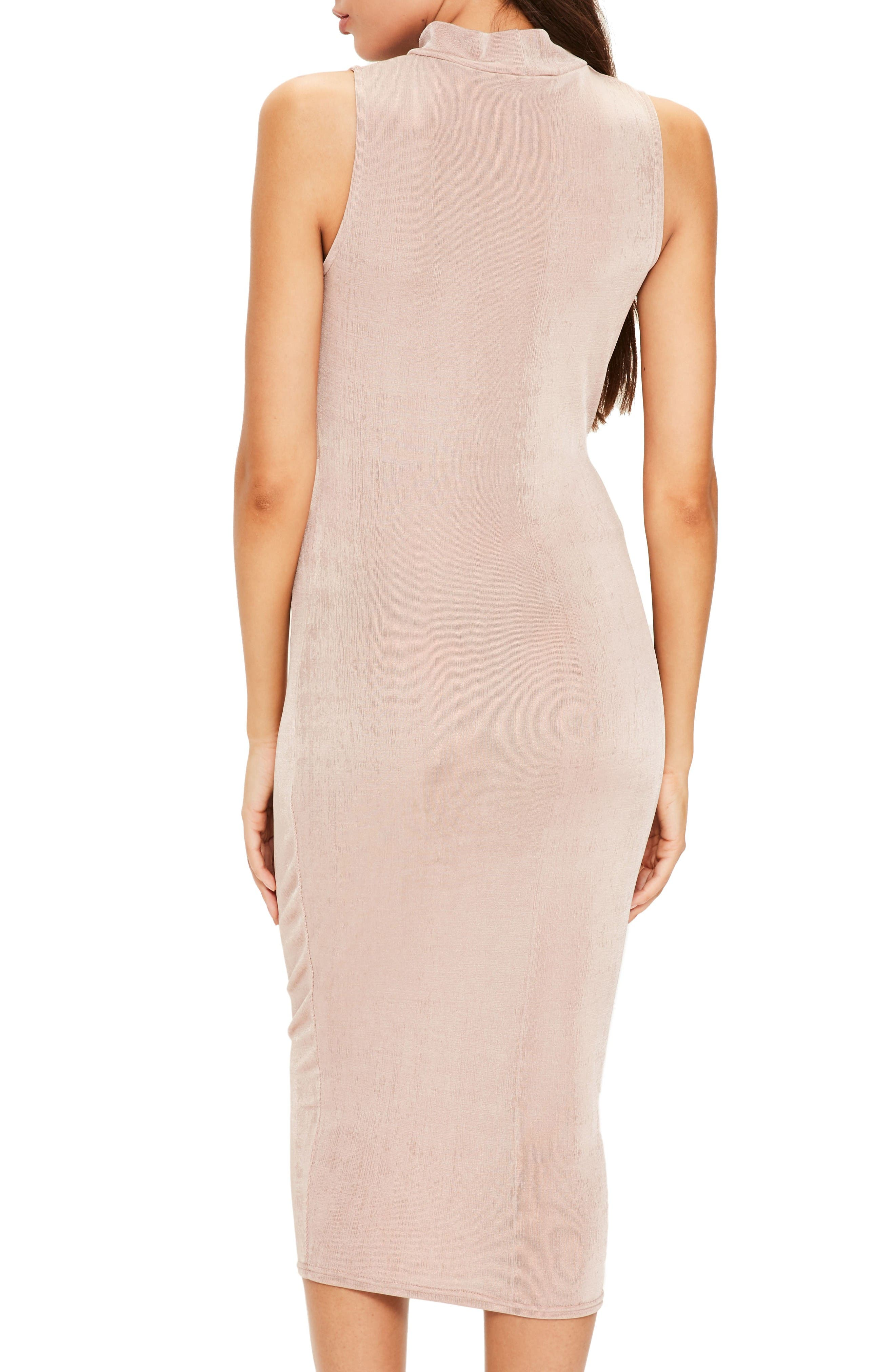 Alternate Image 3  - Missguided Front Knot Midi Dress