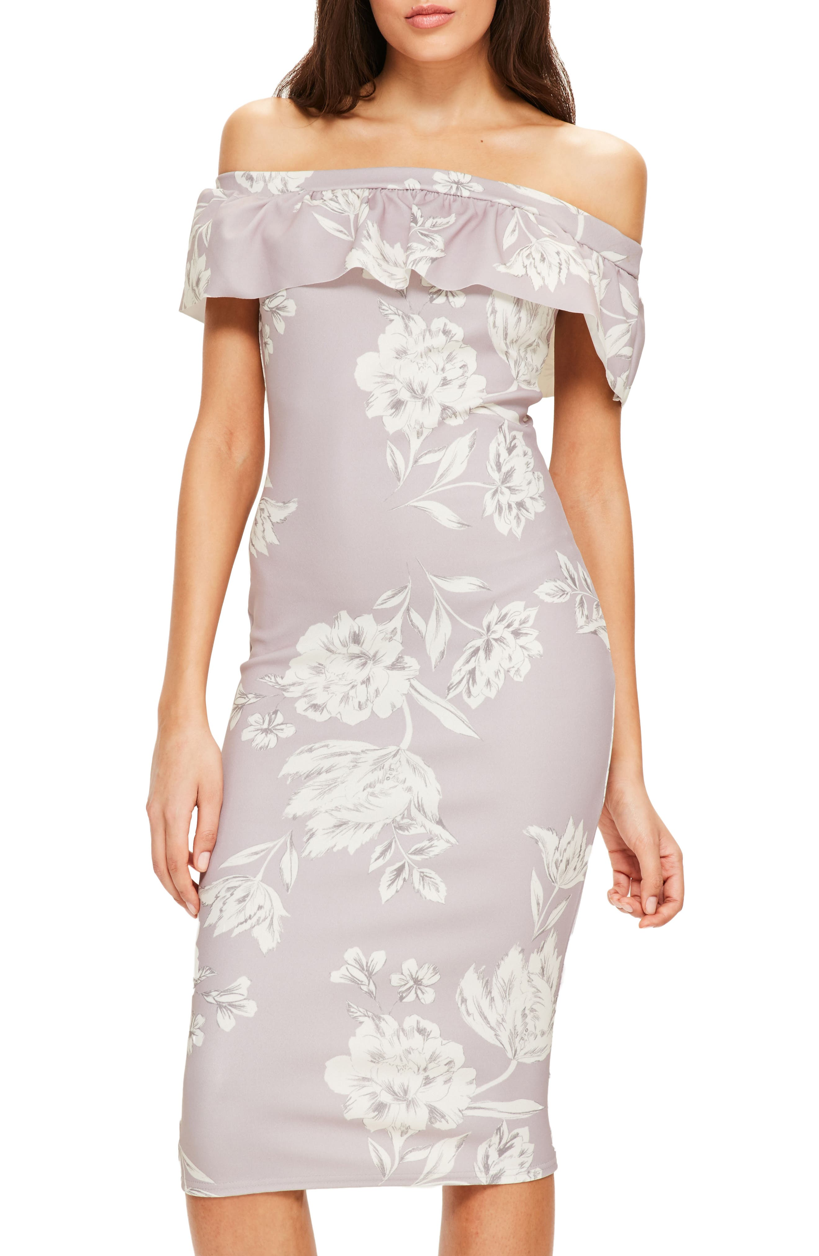 Alternate Image 1 Selected - Missguided Bardot Off the Shoulder Midi Dress