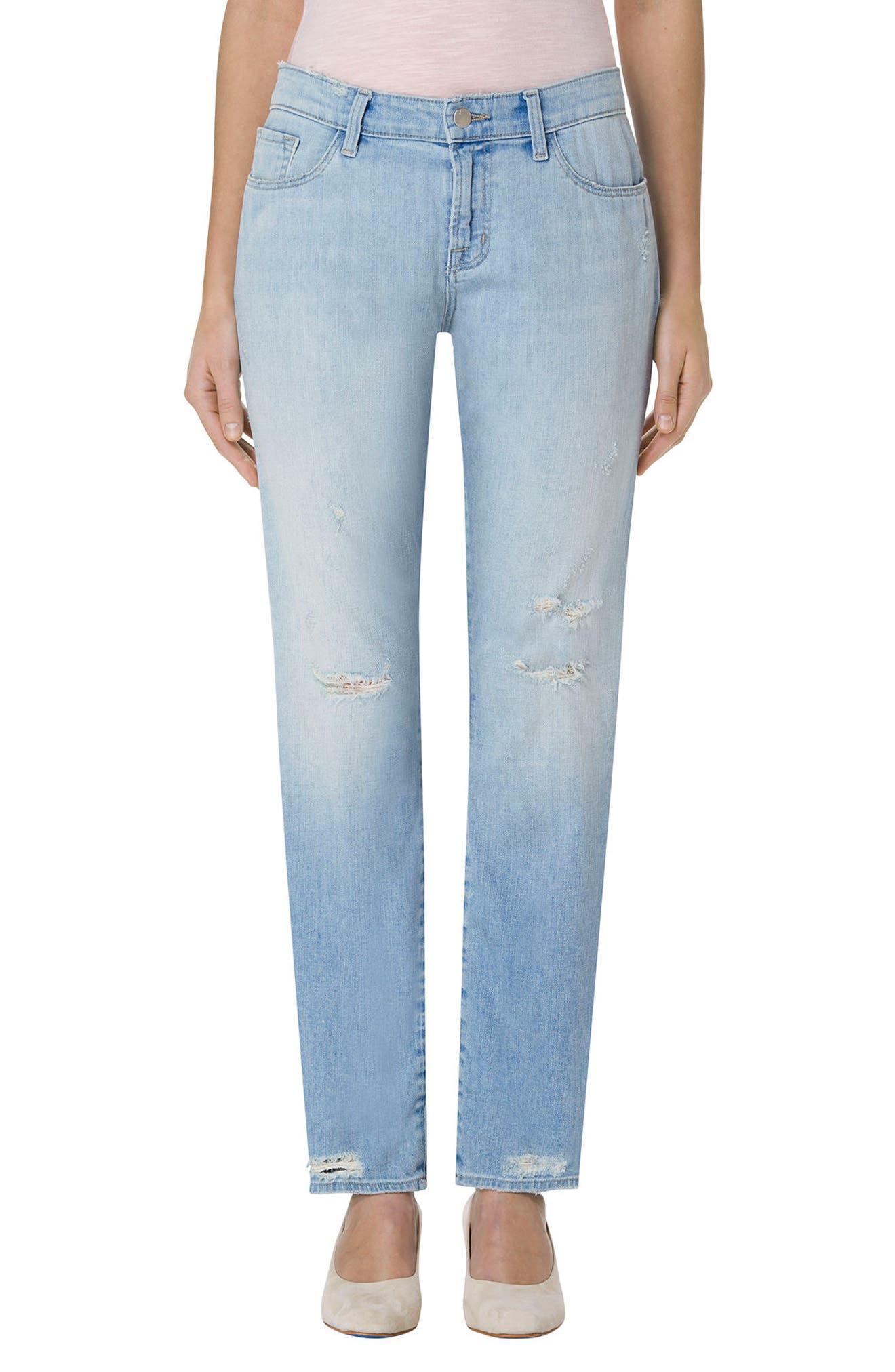 J Brand 'Amelia' Straight Leg Jeans (Star Struck Destruct)