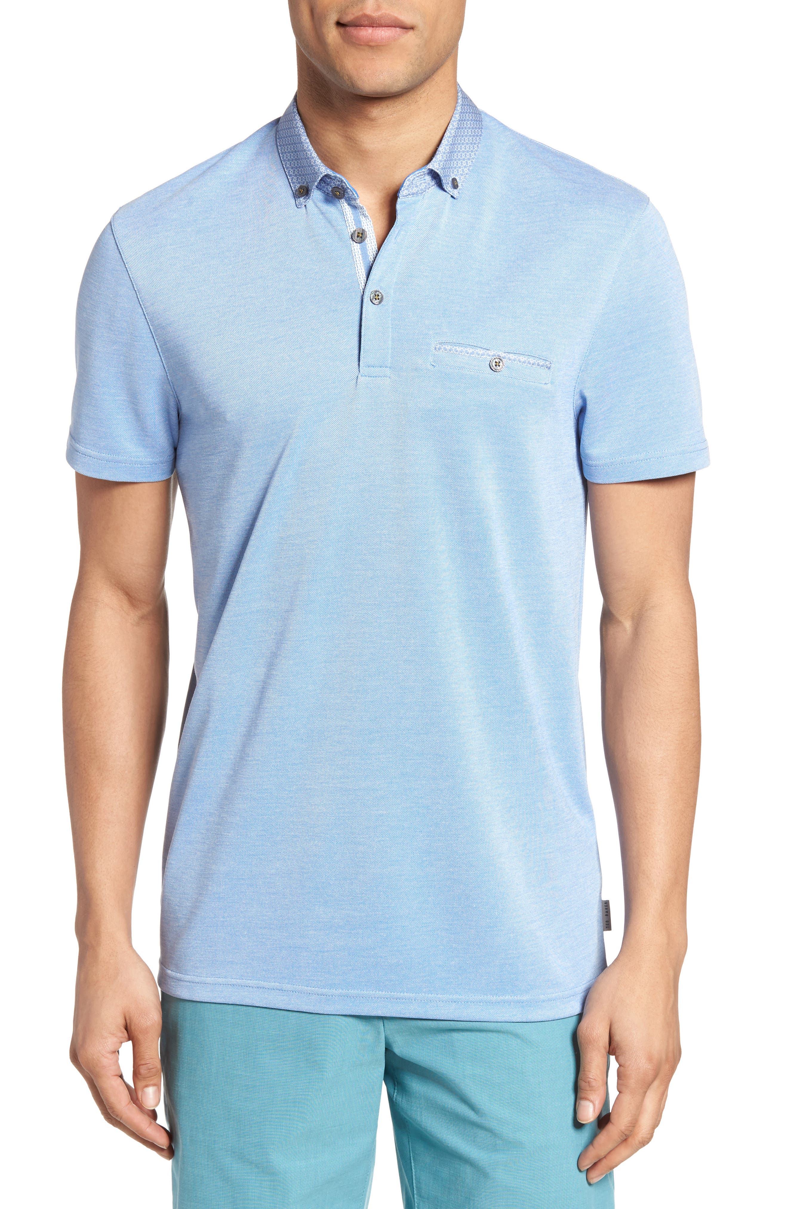 Ted Baker London Woven Collar Polo