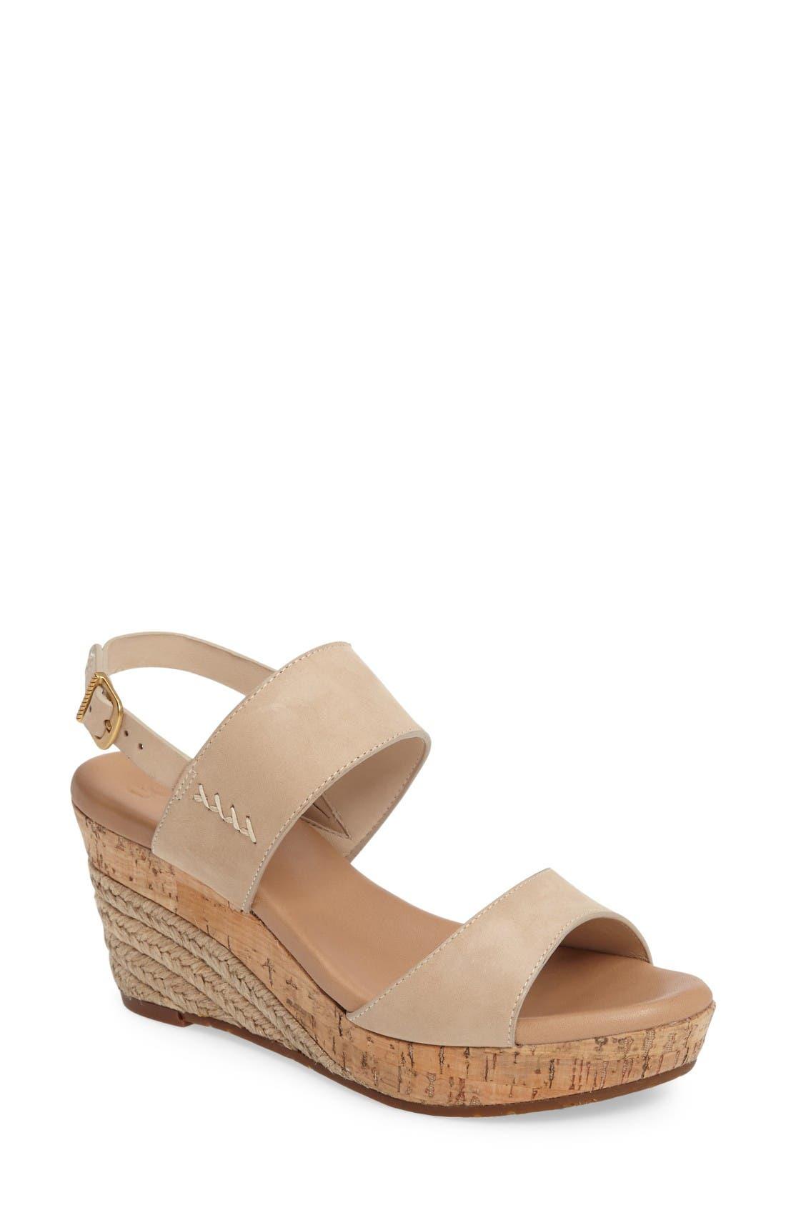 UGG® Elena Platform Wedge Sandal (Women)