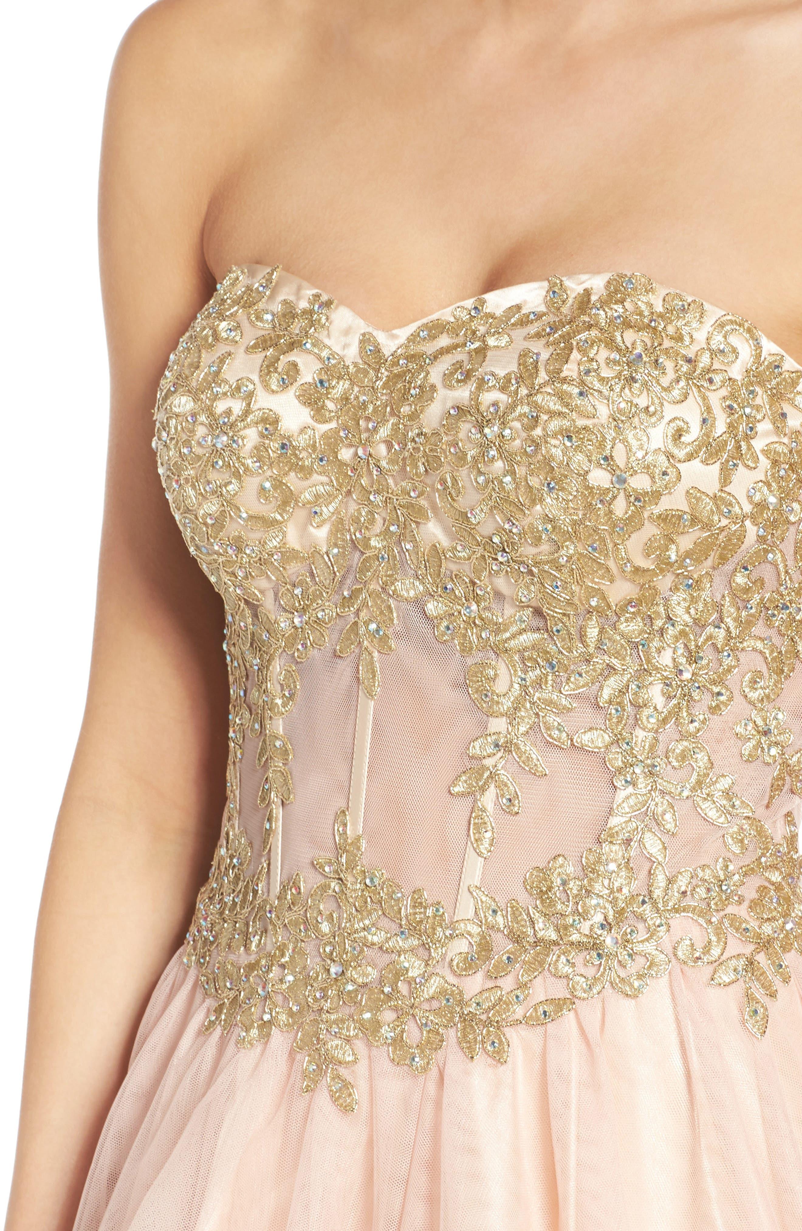 Alternate Image 5  - Blondie Nites Strapless Bustier Dress