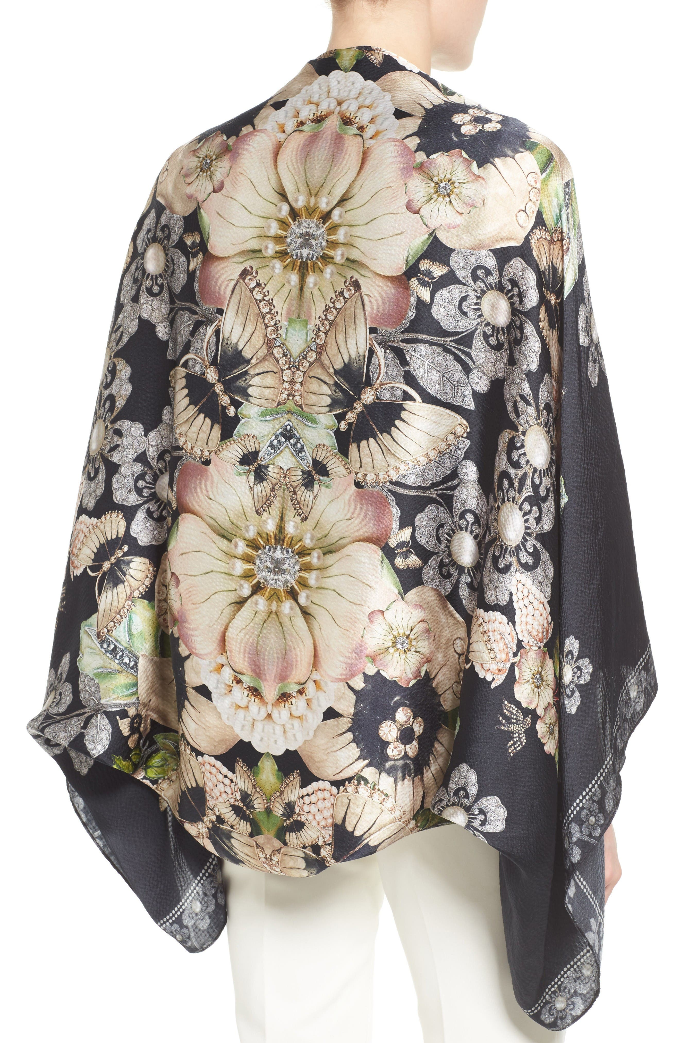 Alternate Image 2  - Ted Baker London Gem Gardens Cape Scarf