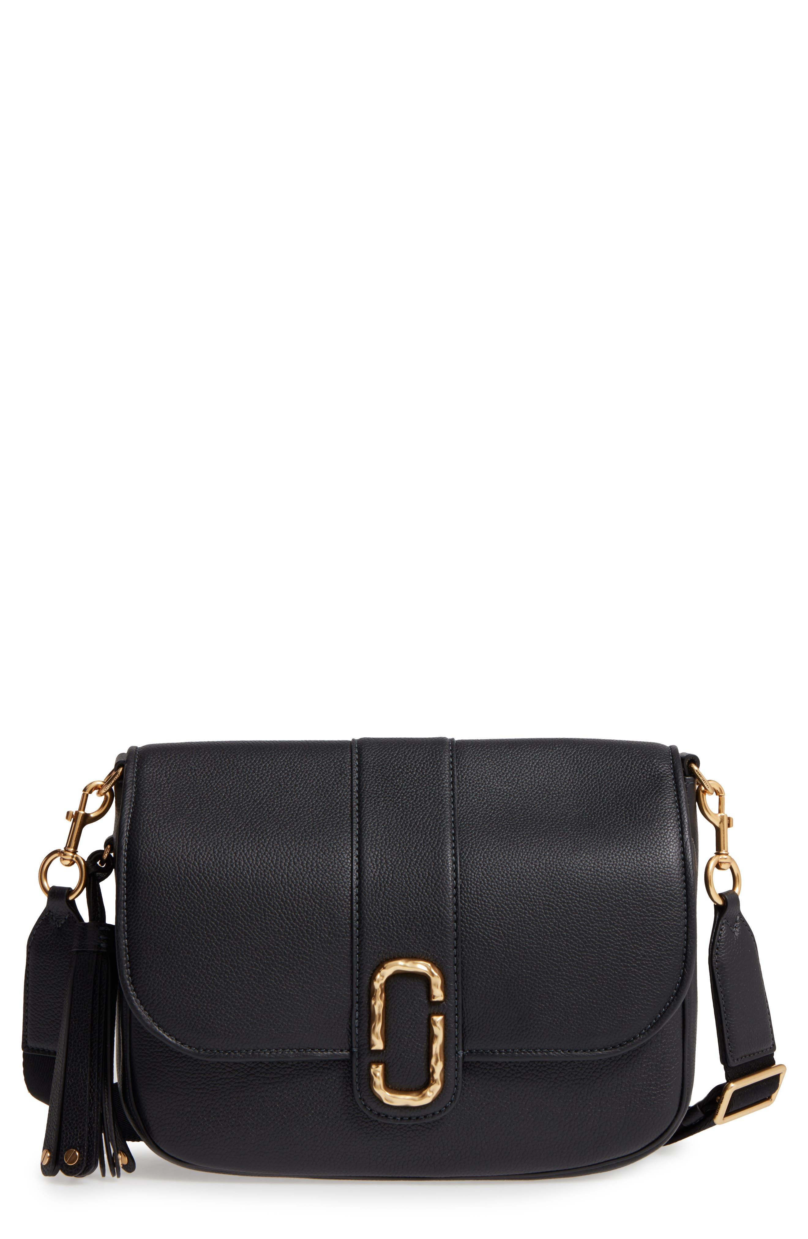 Main Image - MARC JACOBS Interlock Leather Crossbody Bag