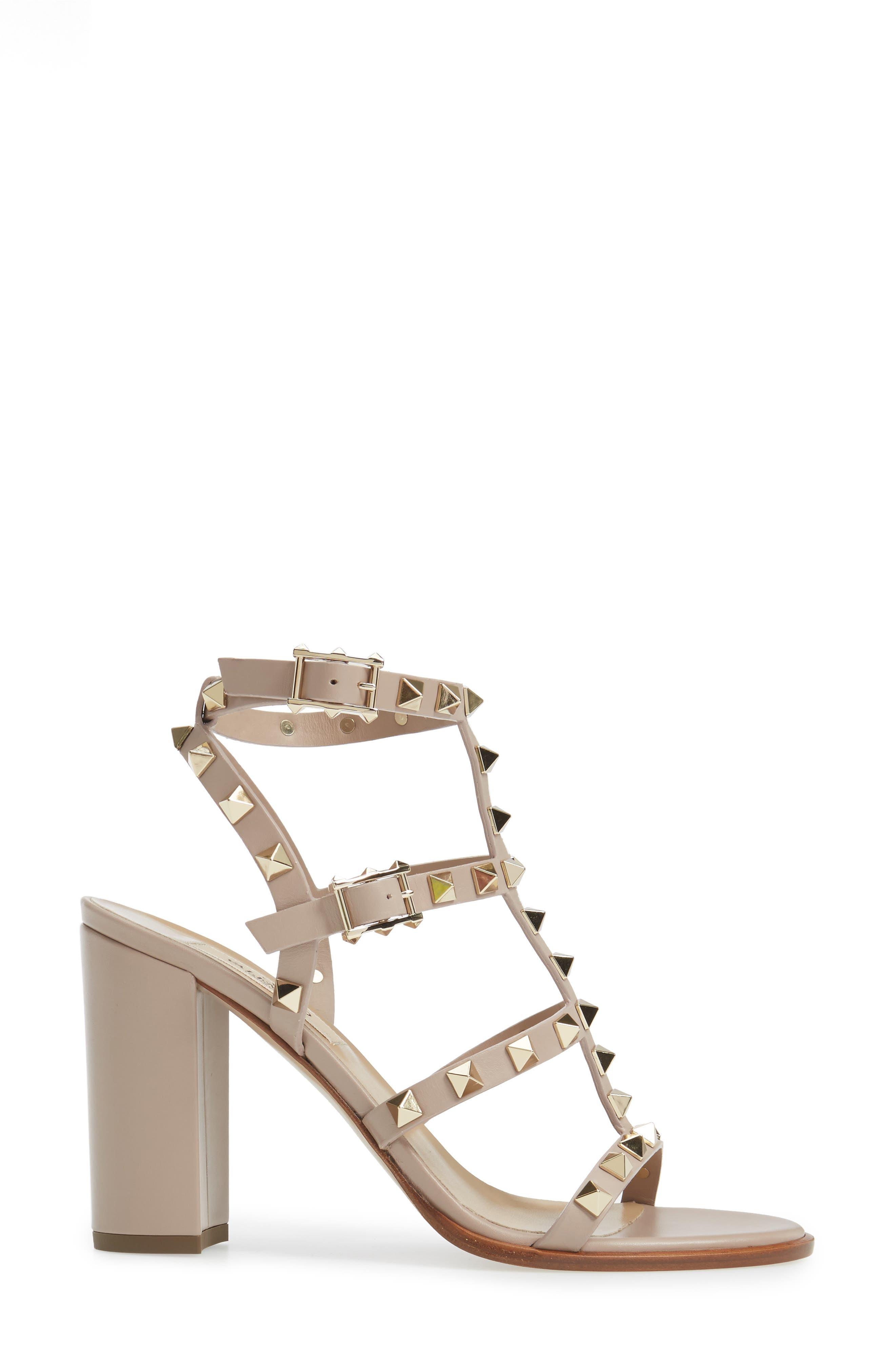 Alternate Image 4  - VALENTINO GARAVANI 'Rockstud' T-Strap Sandal (Women)