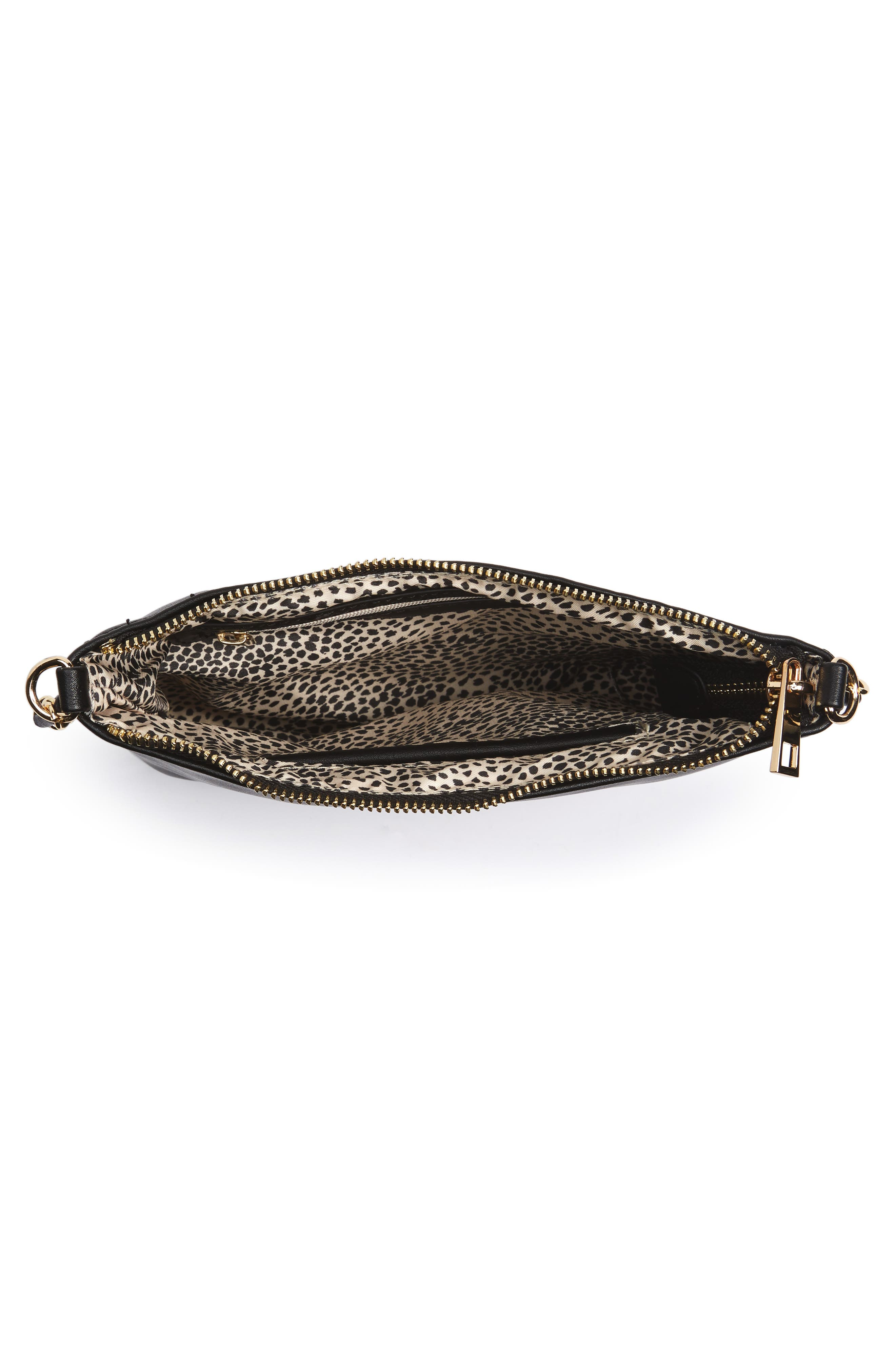 Alternate Image 3  - Emperia Faux Leather Crossbody Bag with Faux Fur Pom