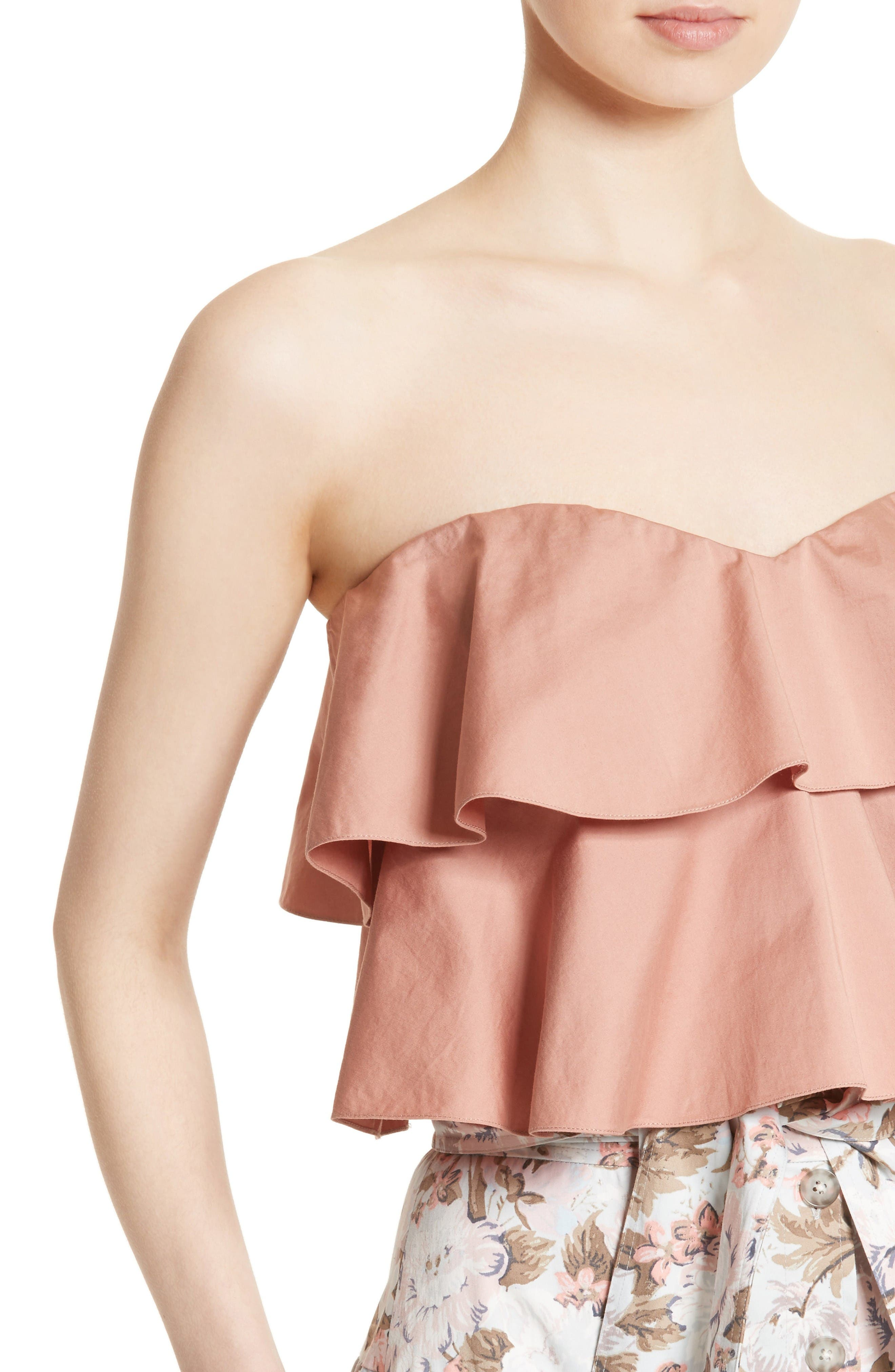Alternate Image 4  - Rebecca Taylor Strapless Crop Top