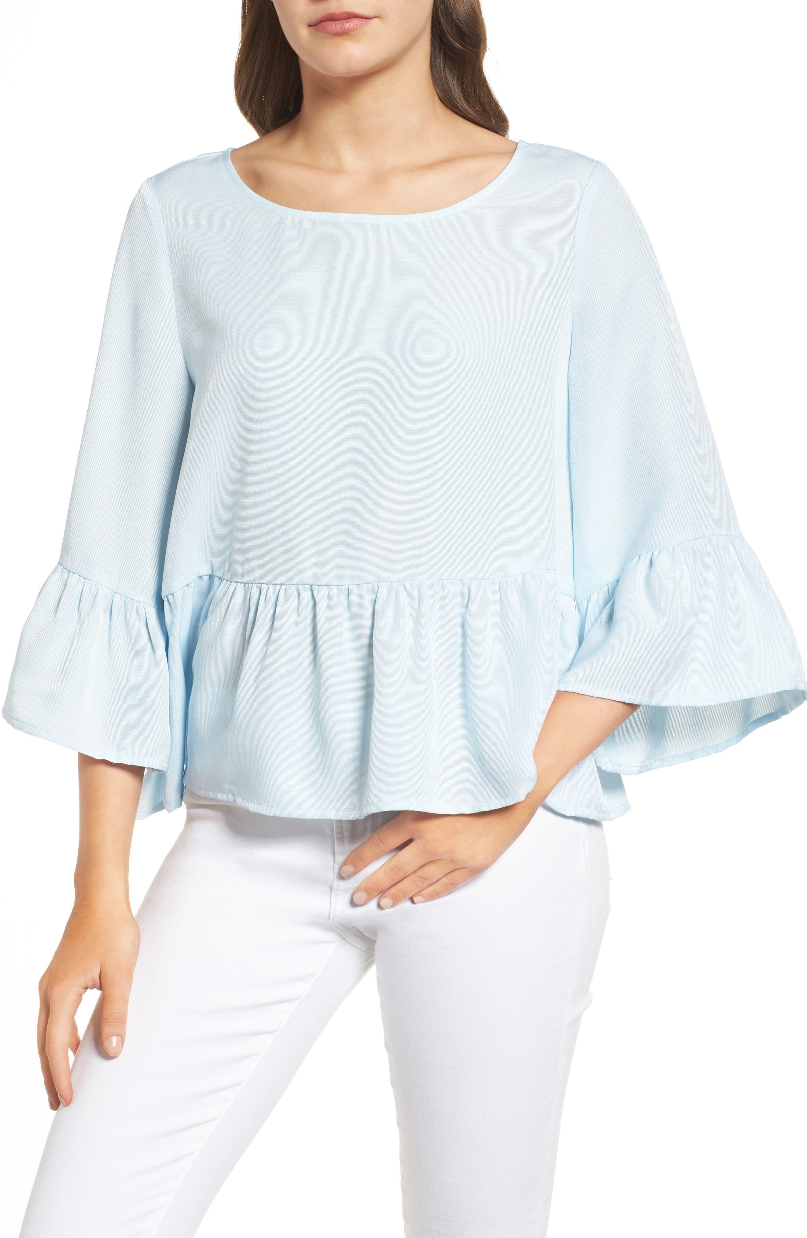 CHELSEA28 Ruffle Sleeve Blouse
